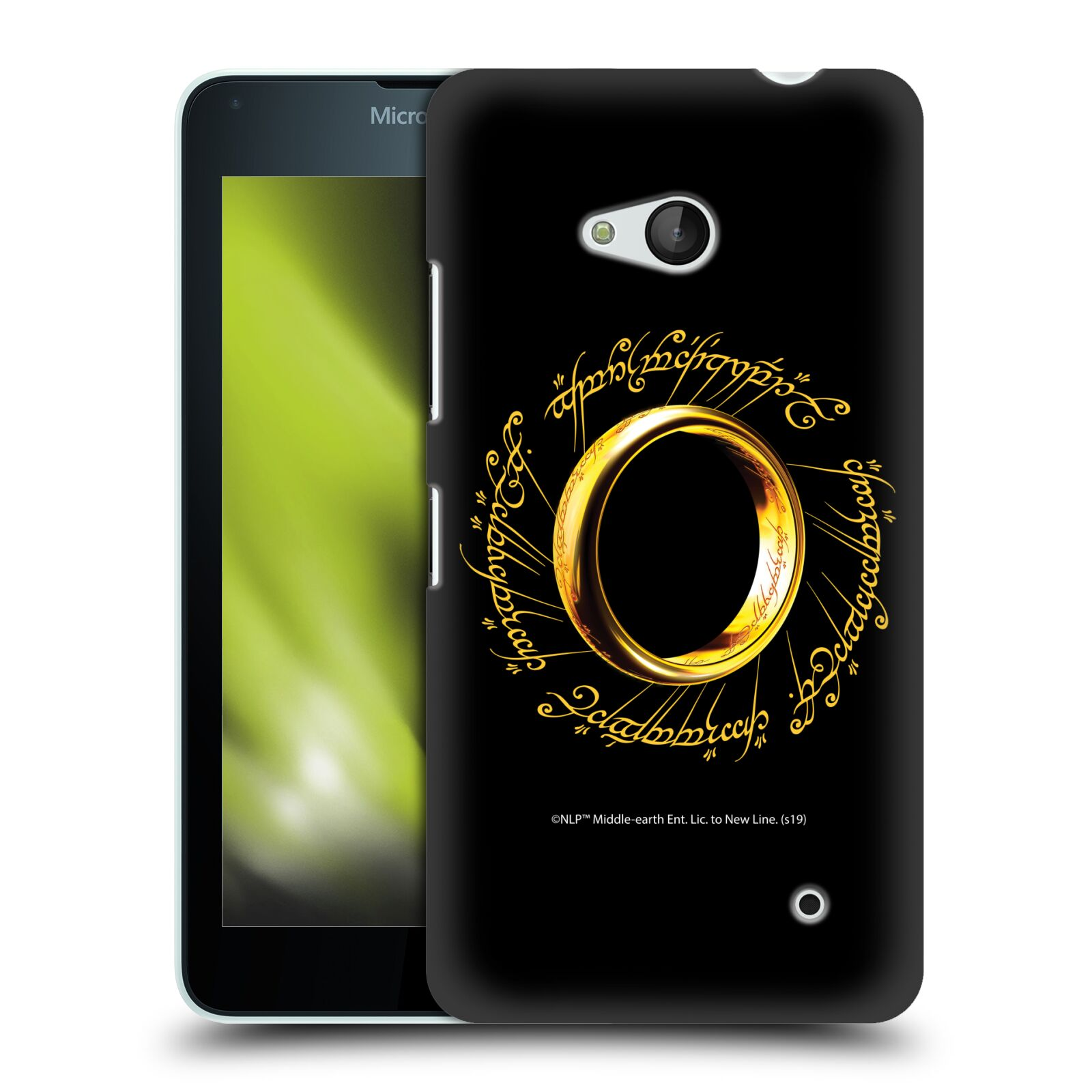 Pouzdro na mobil Microsoft Lumia 640 / 640 DUAL SIM - HEAD CASE - Pán Prstenů - zlatý prsten