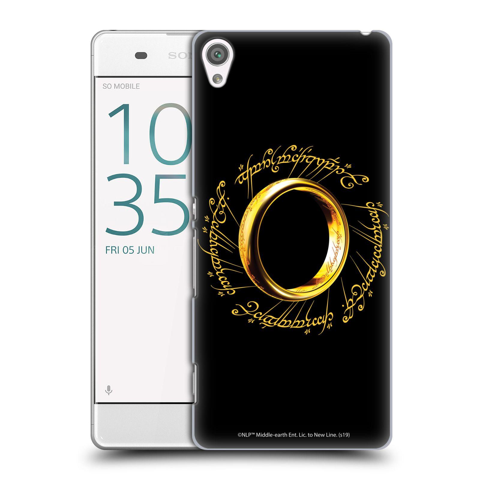 Pouzdro na mobil Sony Xperia XA - HEAD CASE - Pán Prstenů - zlatý prsten