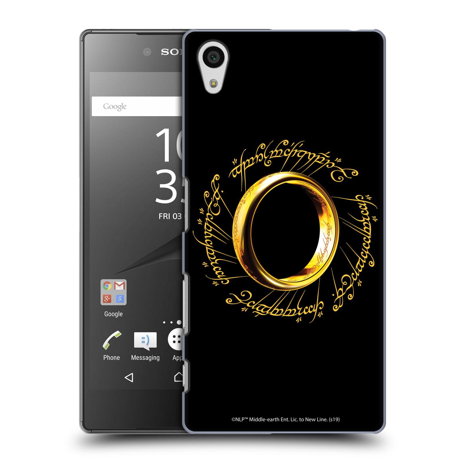 Pouzdro na mobil Sony Xperia Z5 - HEAD CASE - Pán Prstenů - zlatý prsten