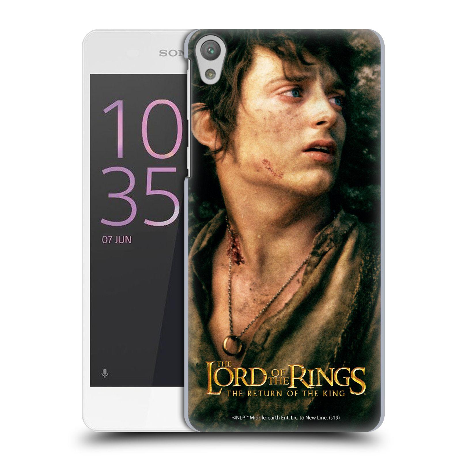Pouzdro na mobil Sony Xperia E5 - HEAD CASE - Pán Prstenů - Frodo Pytlík tvář
