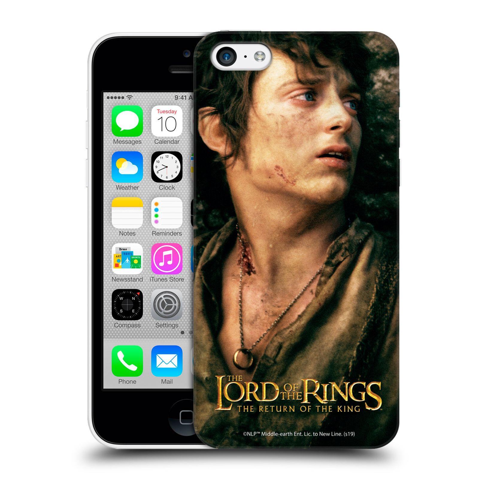 Pouzdro na mobil Apple Iphone 5C - HEAD CASE - Pán Prstenů - Frodo Pytlík tvář