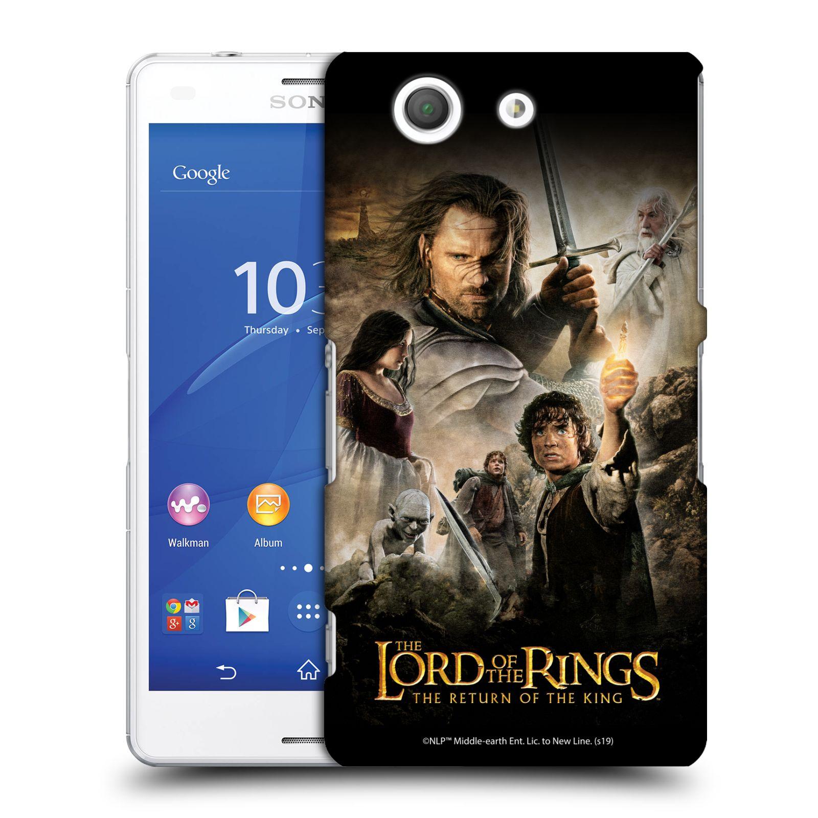 Pouzdro na mobil Sony Xperia Z3 COMPACT - HEAD CASE - Pán Prstenů - Hlavní postavy