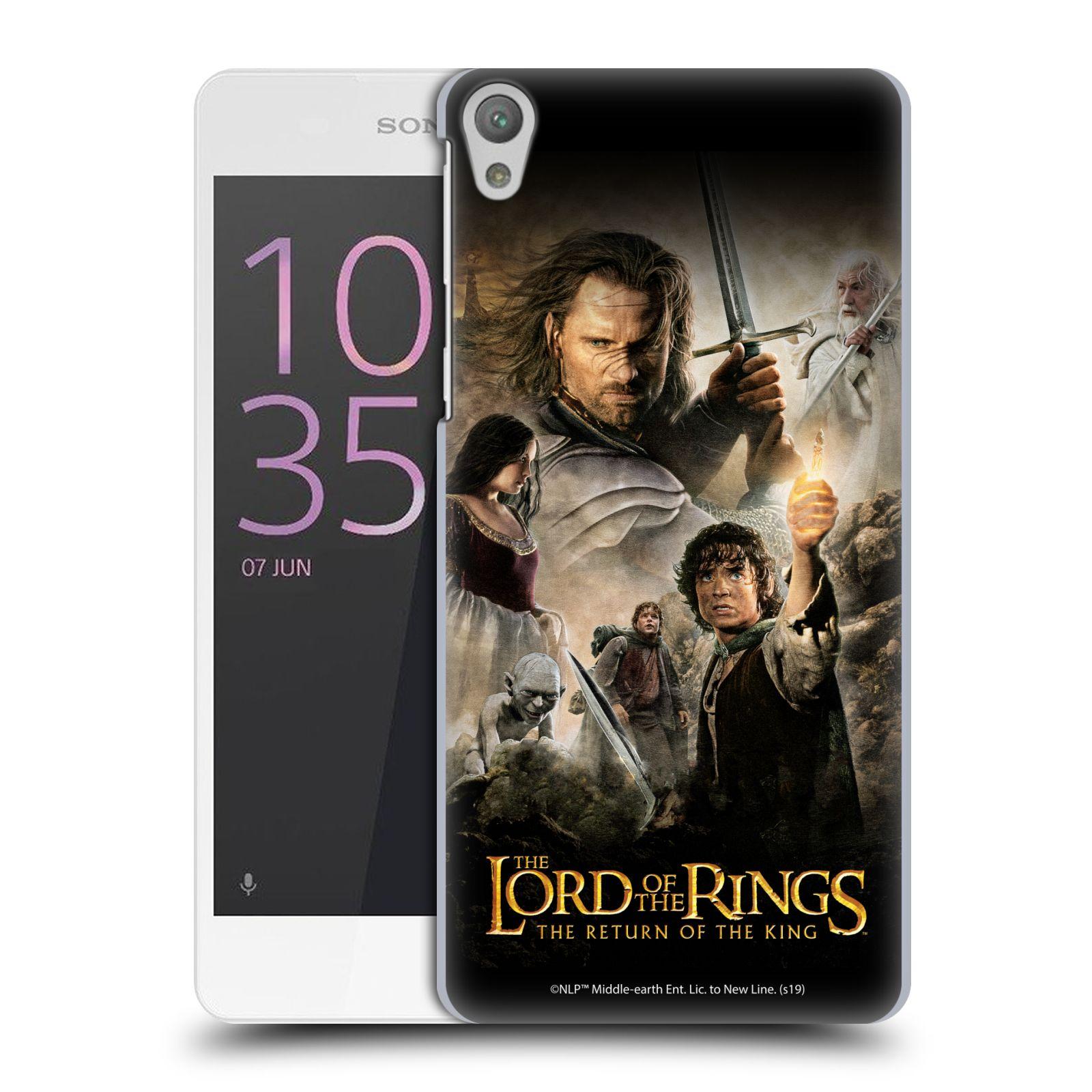 Pouzdro na mobil Sony Xperia E5 - HEAD CASE - Pán Prstenů - Hlavní postavy