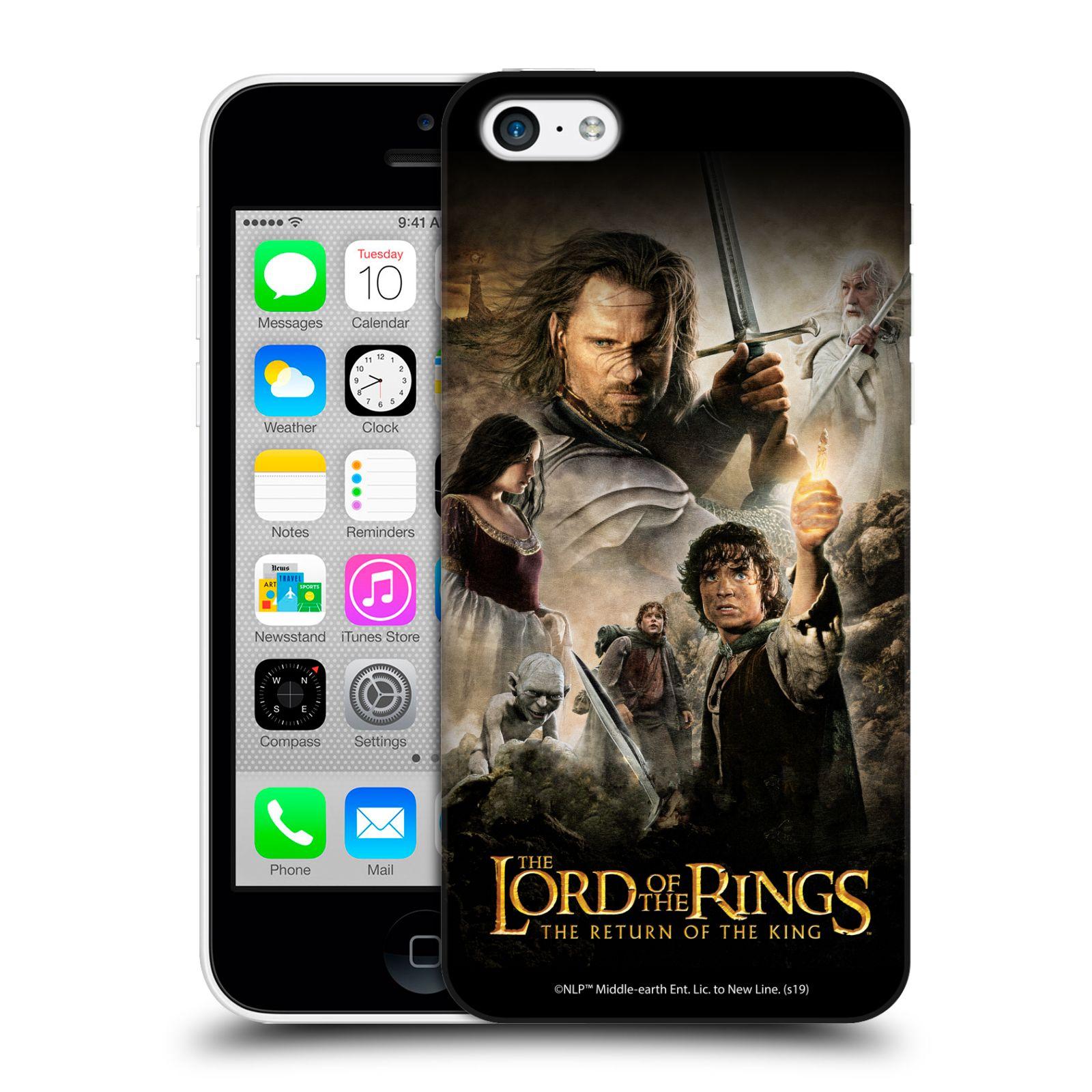 Pouzdro na mobil Apple Iphone 5C - HEAD CASE - Pán Prstenů - Hlavní postavy