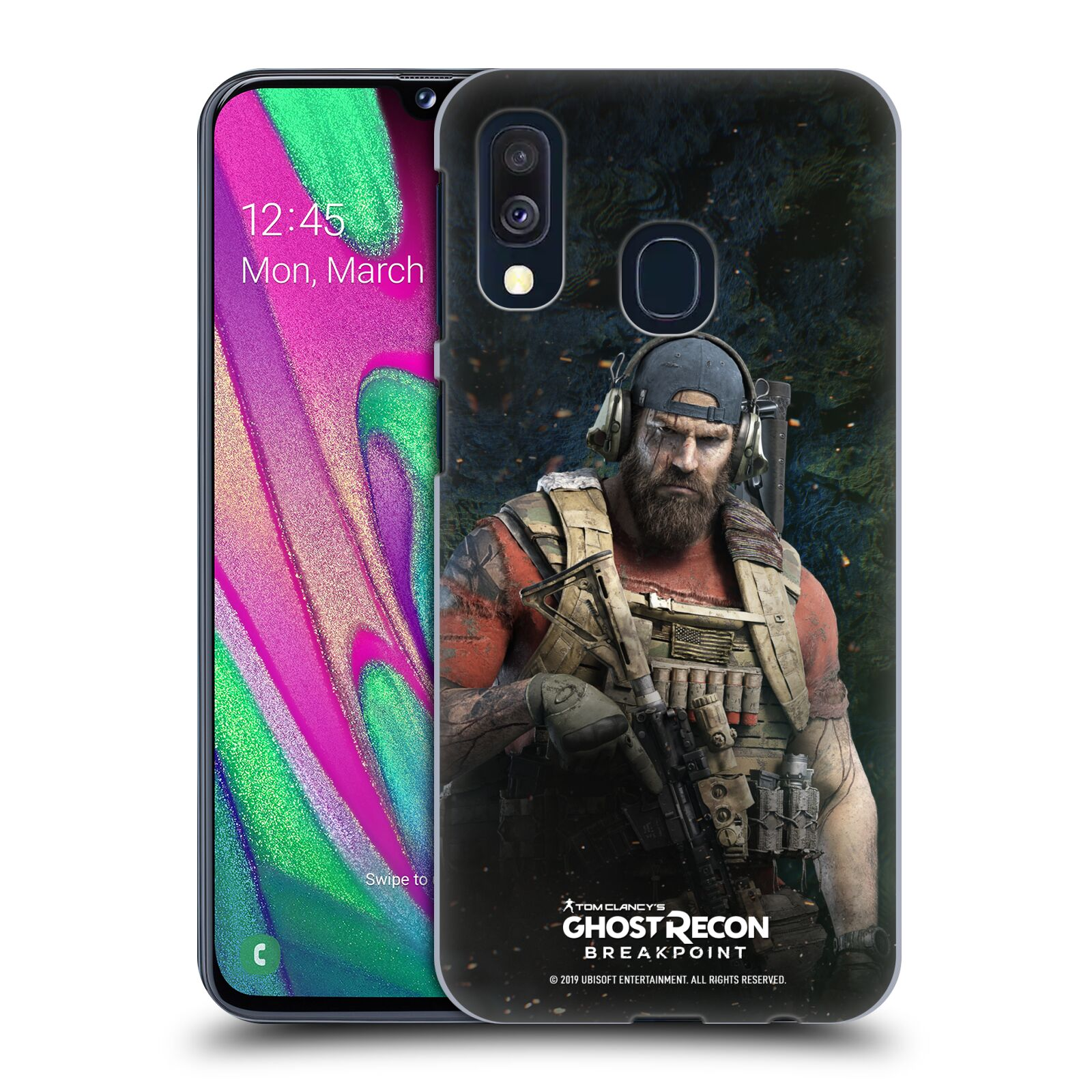 Pouzdro na mobil Samsung Galaxy A40 - HEAD CASE - Tom Clancys Ghost Recon BreakPoint - Nomad