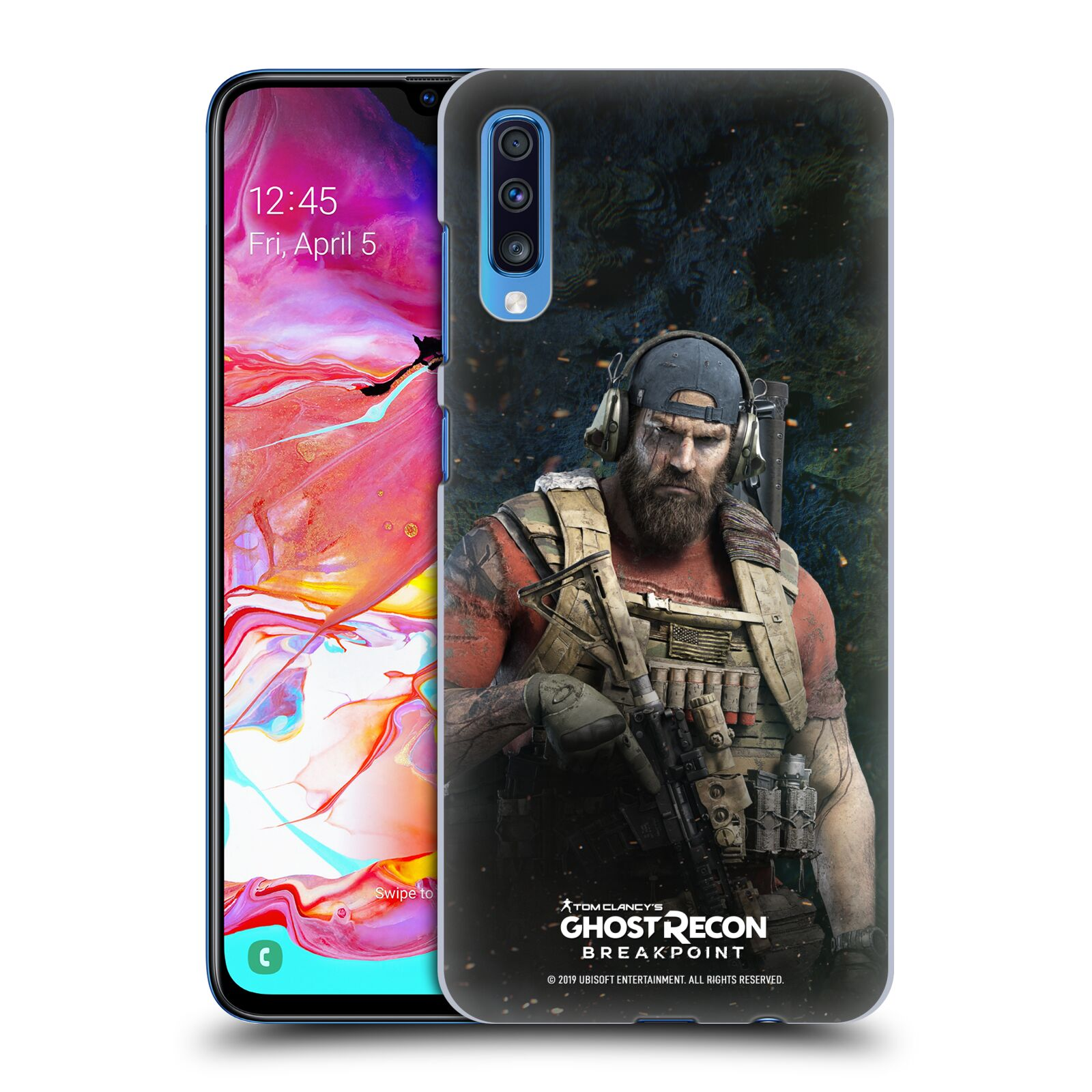 Pouzdro na mobil Samsung Galaxy A70 - HEAD CASE - Tom Clancys Ghost Recon BreakPoint - Nomad