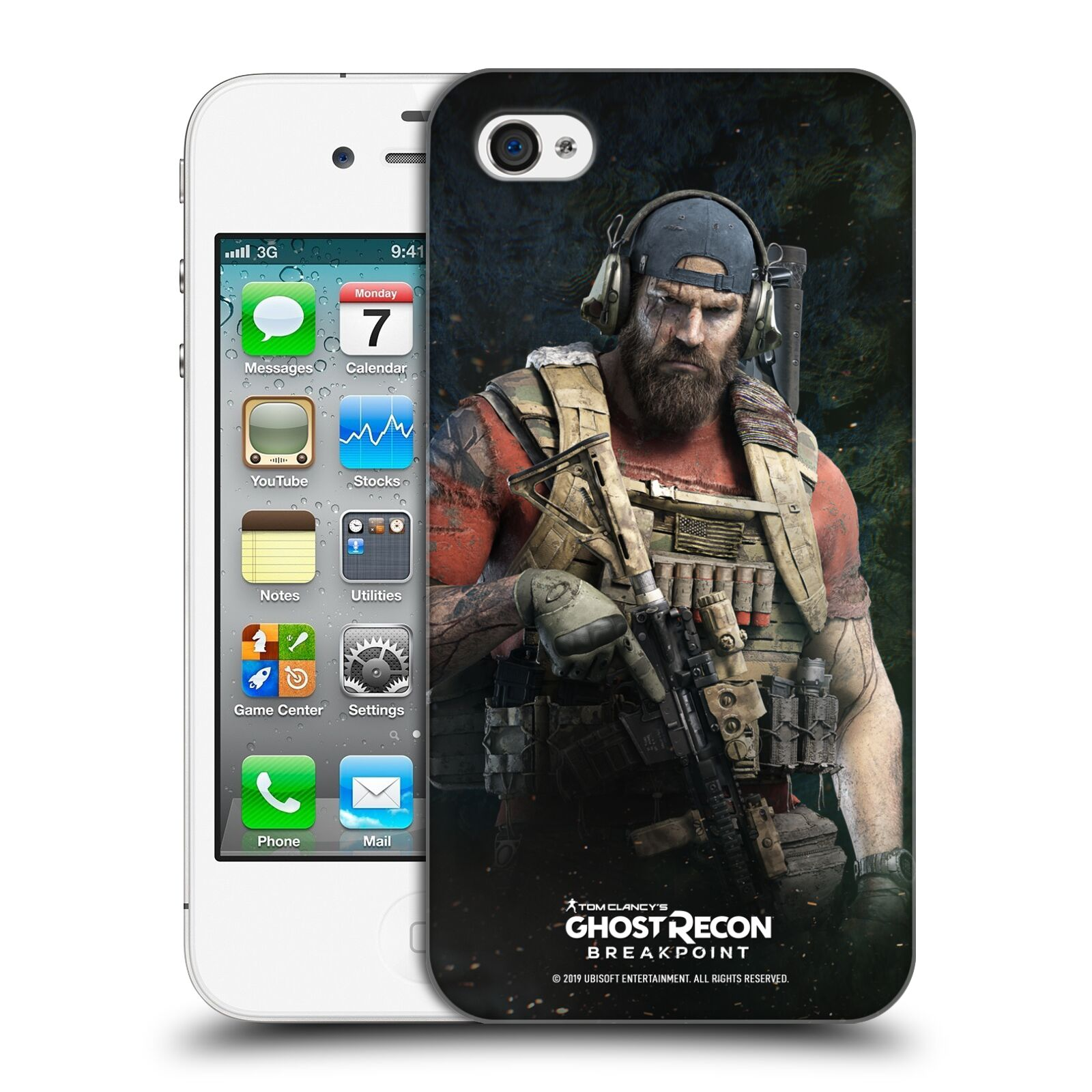 Pouzdro na mobil Apple Iphone 4/4S - HEAD CASE - Tom Clancys Ghost Recon BreakPoint - Nomad