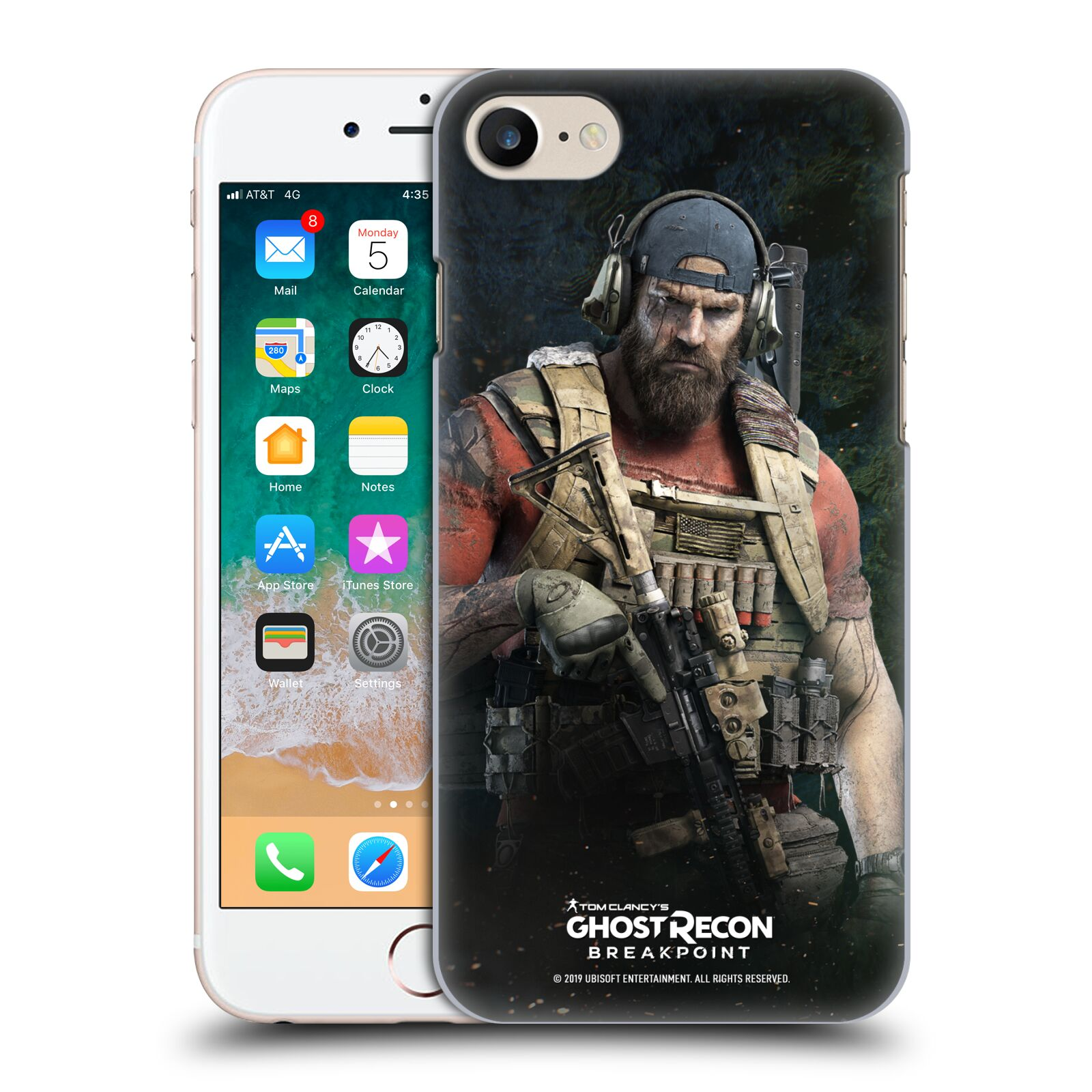 Pouzdro na mobil Apple Iphone 7/8 - HEAD CASE - Tom Clancys Ghost Recon BreakPoint - Nomad