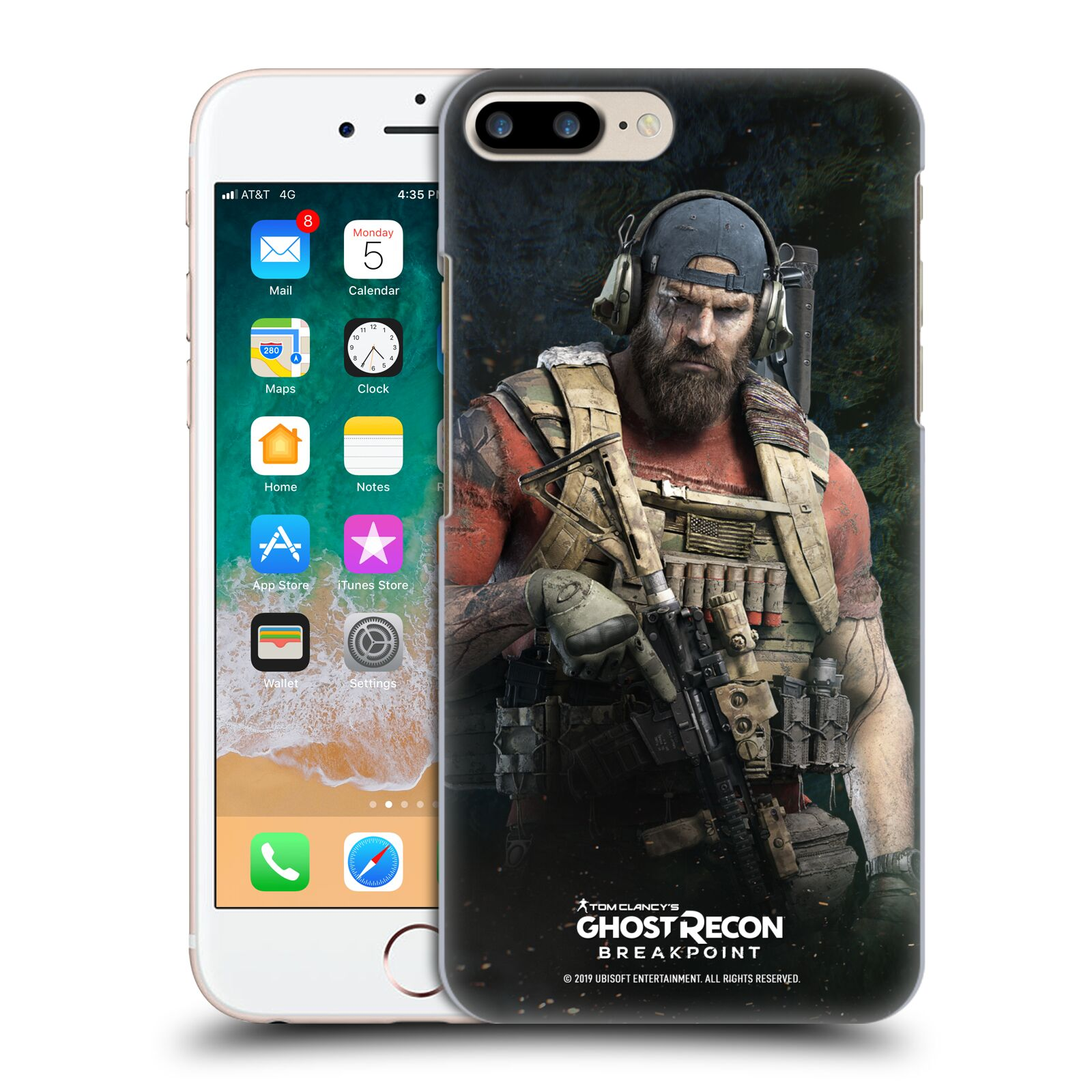 Pouzdro na mobil Apple Iphone 7/8 PLUS - HEAD CASE - Tom Clancys Ghost Recon BreakPoint - Nomad