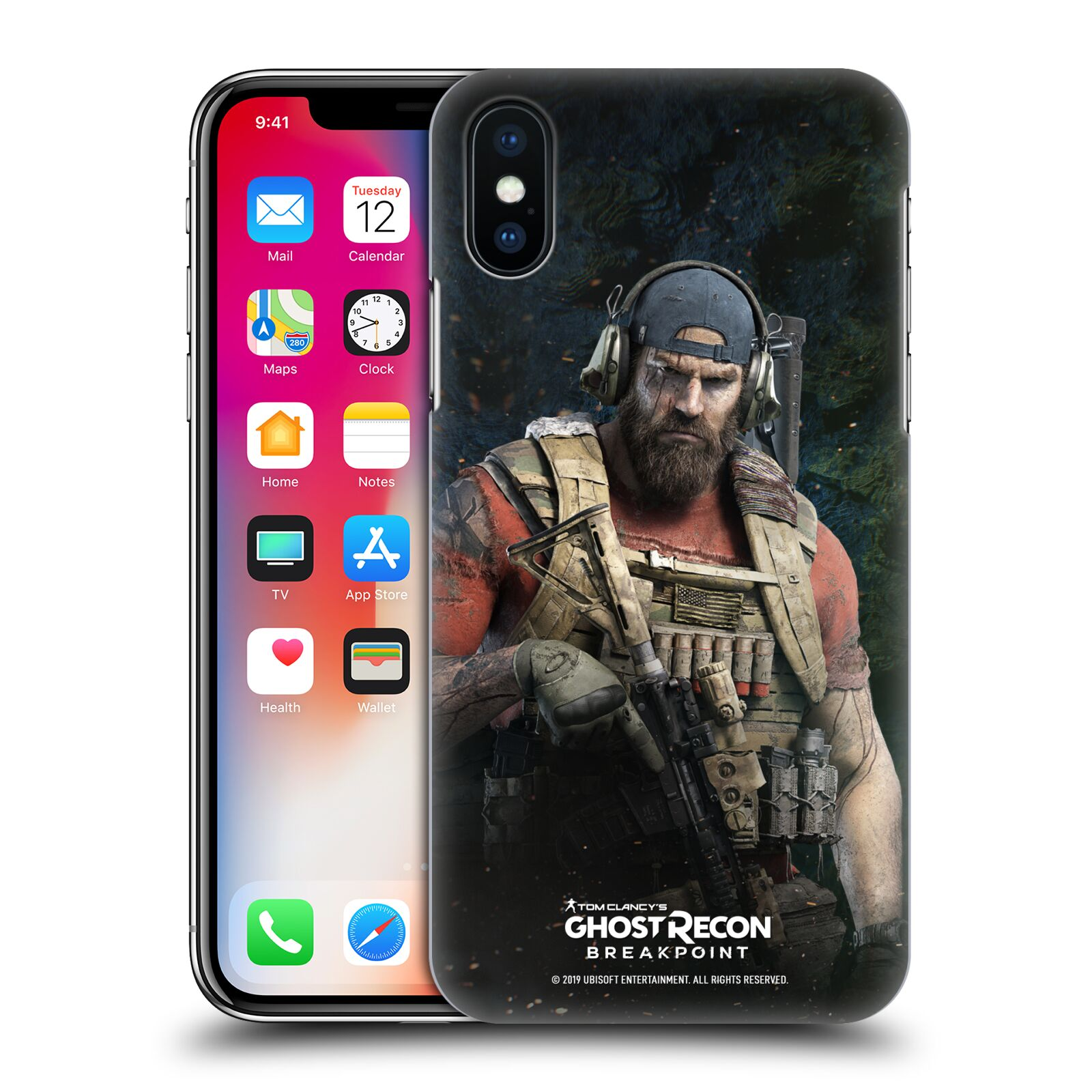 Pouzdro na mobil Apple Iphone X/XS - HEAD CASE - Tom Clancys Ghost Recon BreakPoint - Nomad