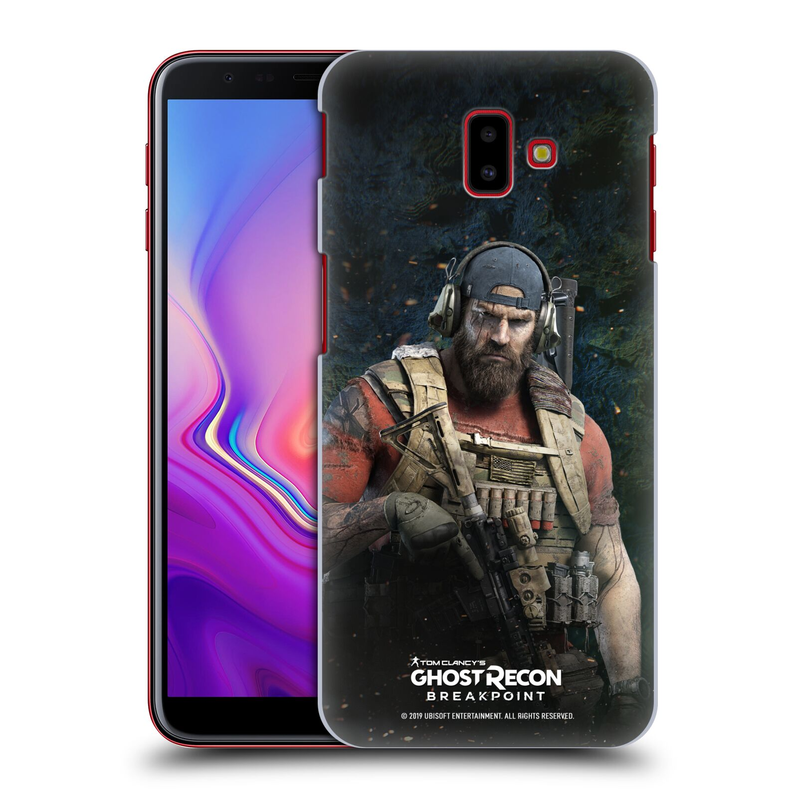 Pouzdro na mobil Samsung Galaxy J6+ - HEAD CASE - Tom Clancys Ghost Recon BreakPoint - Nomad