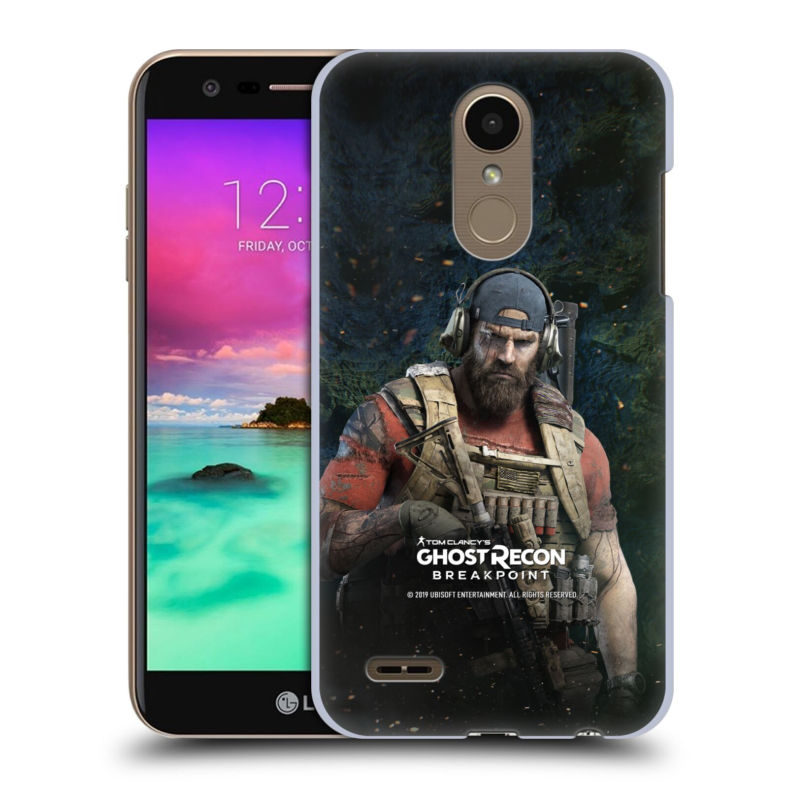 Pouzdro na mobil LG K10 2018 - HEAD CASE - Tom Clancys Ghost Recon BreakPoint - Nomad