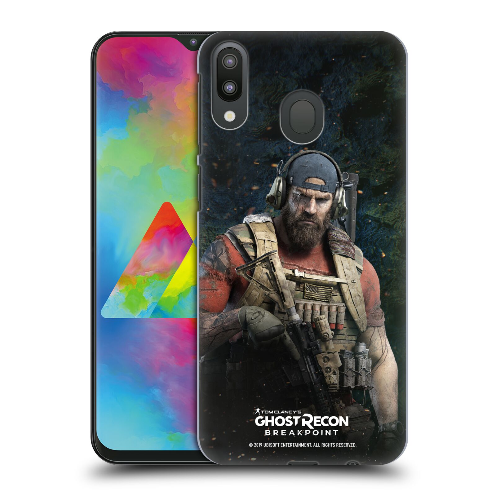 Pouzdro na mobil Samsung Galaxy M20 - HEAD CASE - Tom Clancys Ghost Recon BreakPoint - Nomad