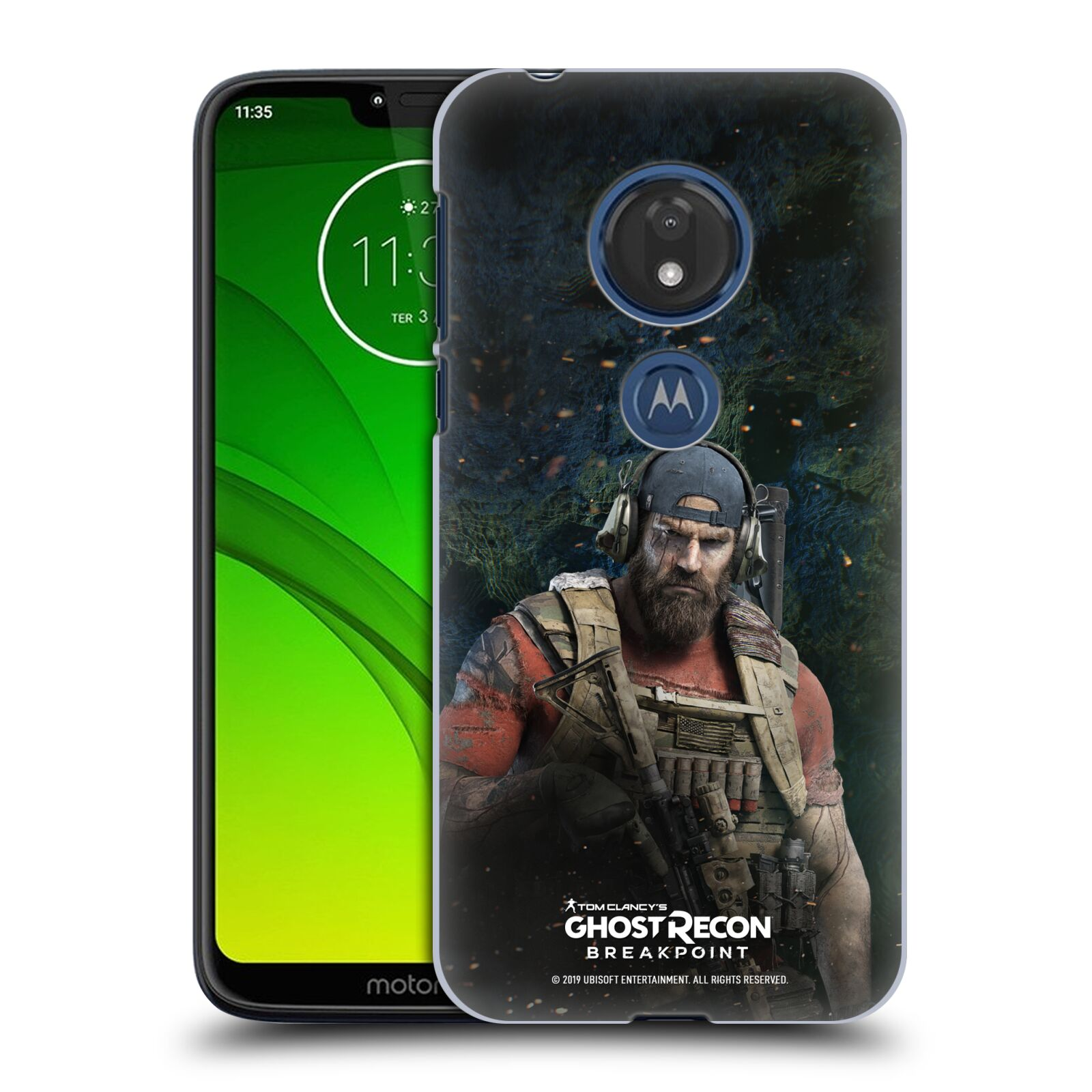 Pouzdro na mobil Motorola Moto G7 Play - HEAD CASE - Tom Clancys Ghost Recon BreakPoint - Nomad