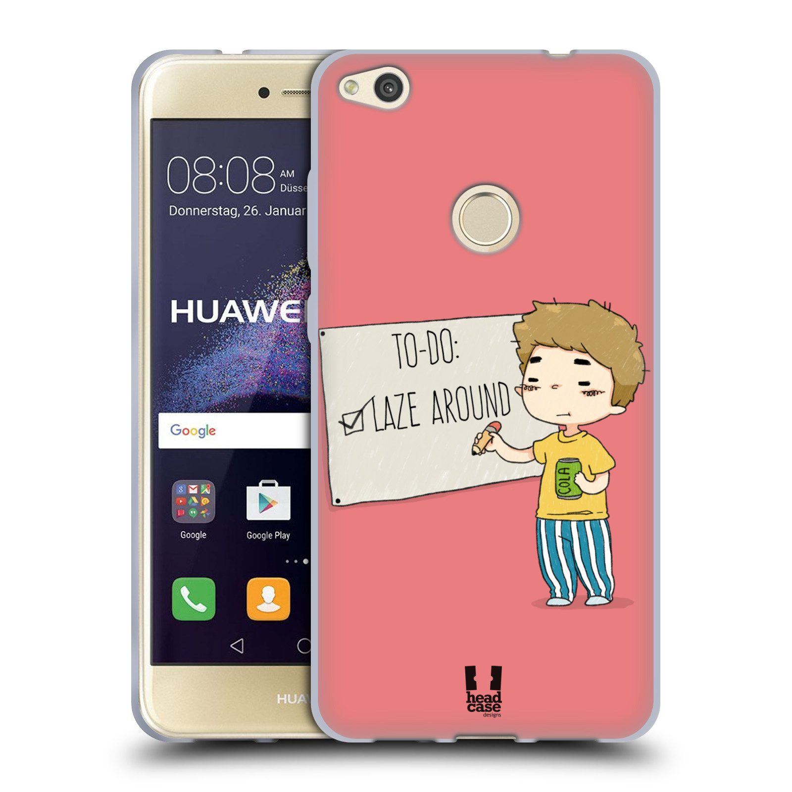HEAD-CASE-DESIGNS-TOO-LAZY-SOFT-GEL-CASE-FOR-HUAWEI-P8-LITE-2017