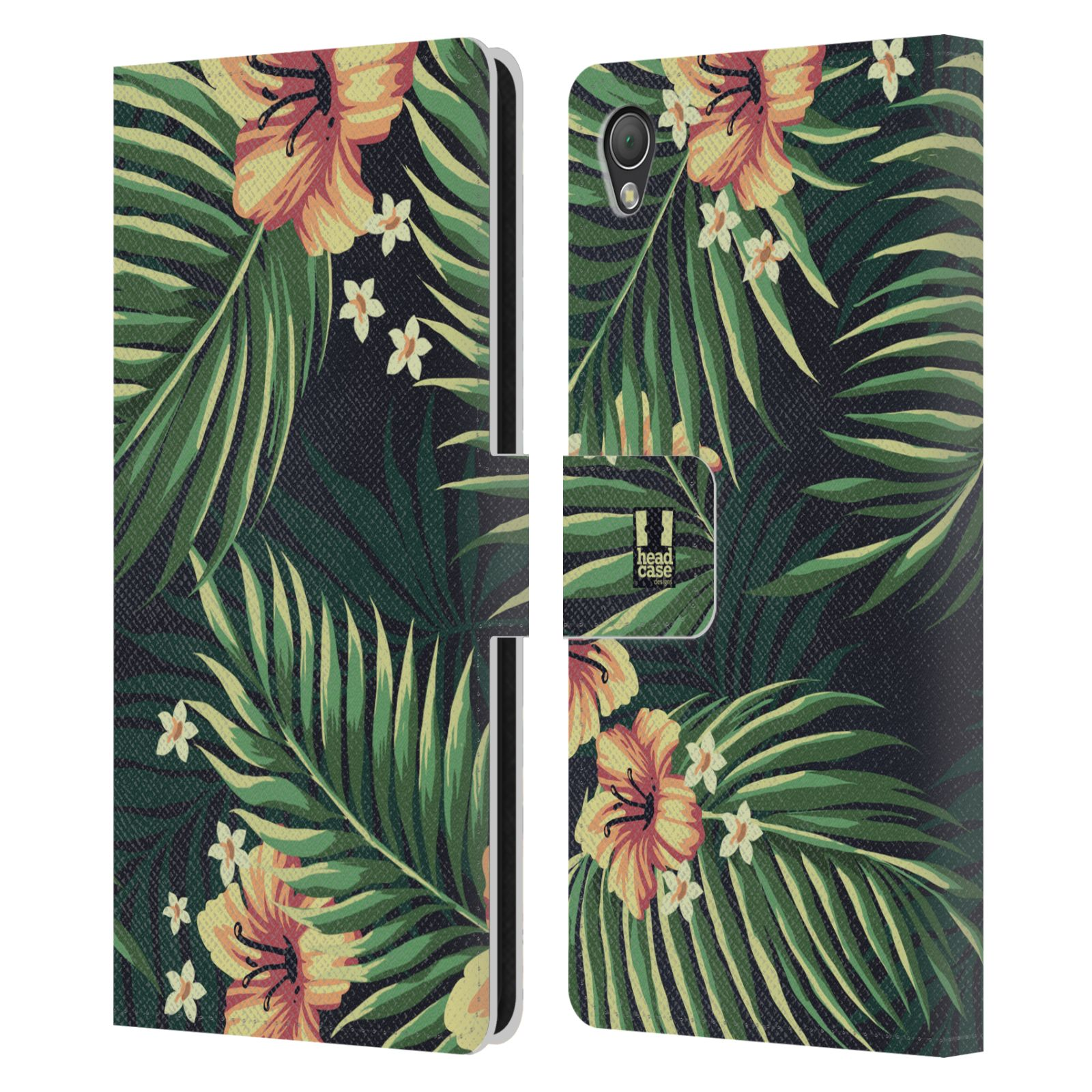 HEAD CASE DESIGNS TROPICAL PRINTS LEATHER BOOK WALLET CASE FOR SONY PHONES 1