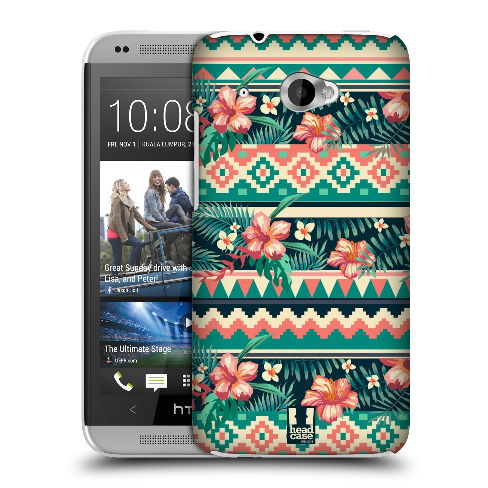 HEAD CASE DESIGNS TROPICAL PRINTS CASE COVER FOR HTC DESIRE 601 DUAL SIM