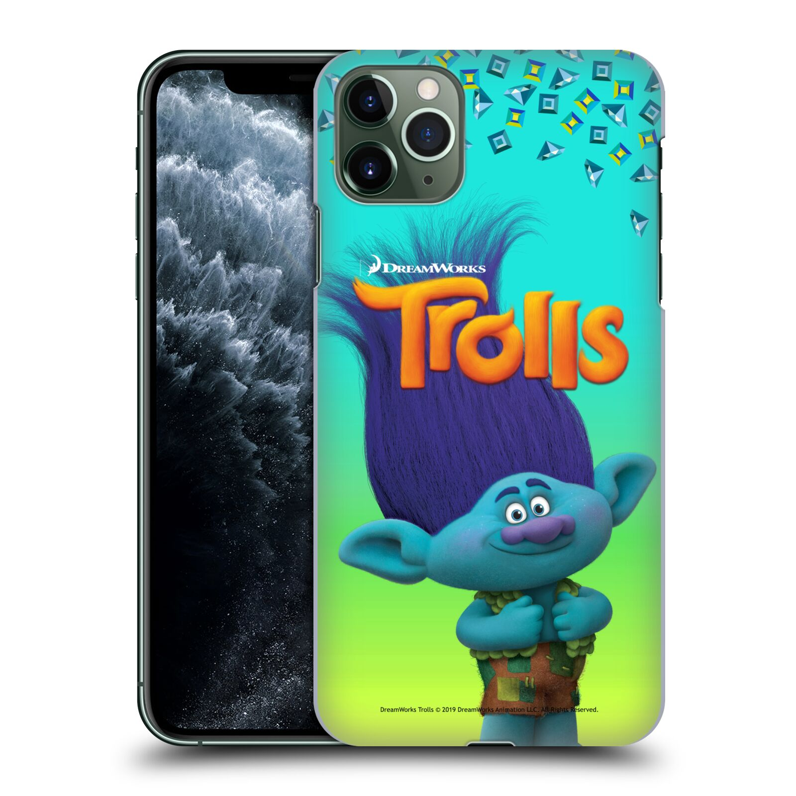 Pouzdro na mobil Apple Iphone 11 PRO MAX - HEAD CASE - Pohádka - Trollové skřítek Branch