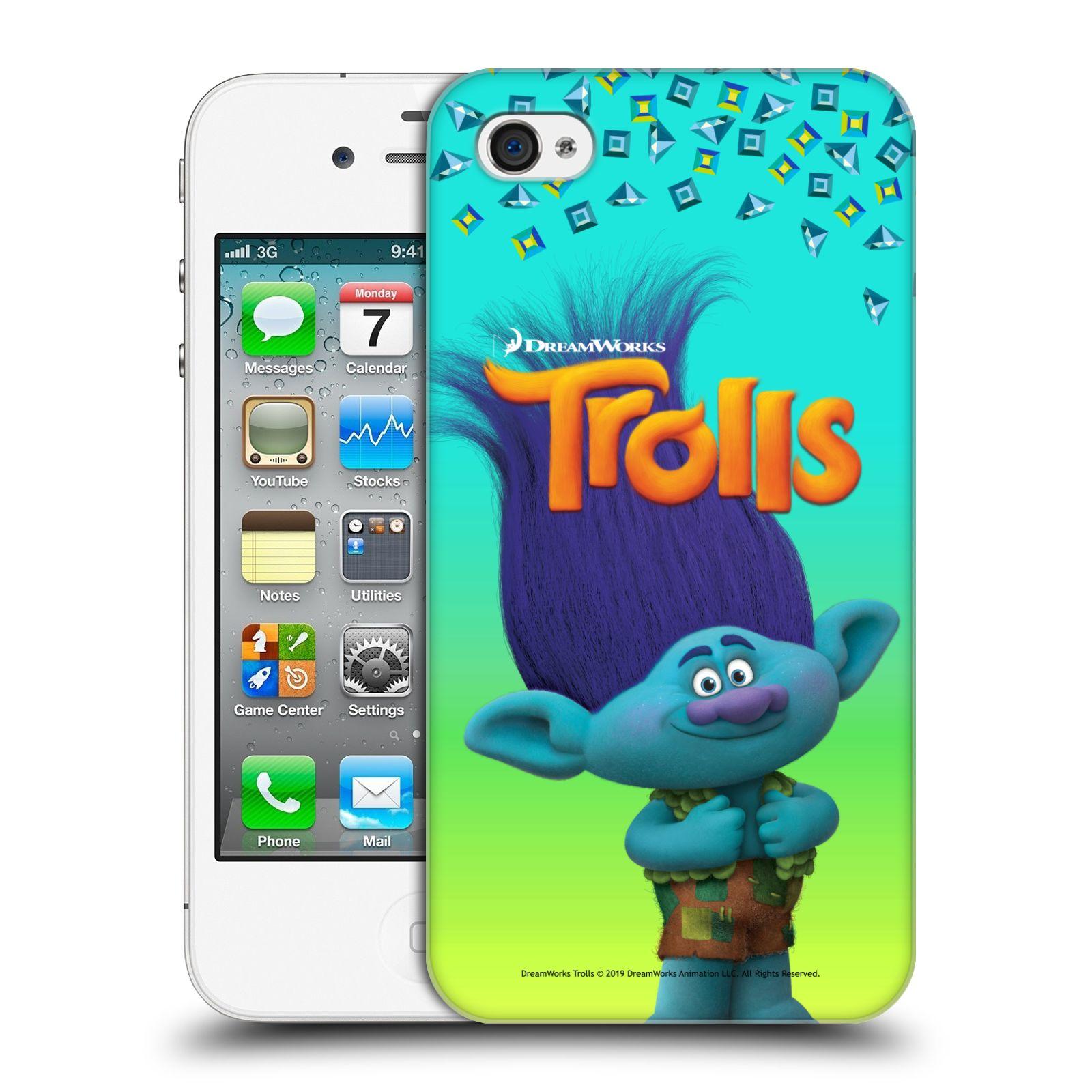 Pouzdro na mobil Apple Iphone 4/4S - HEAD CASE - Pohádka - Trollové skřítek Branch
