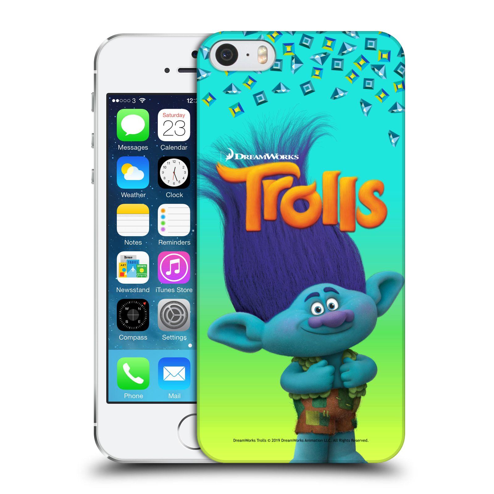 Pouzdro na mobil Apple Iphone 5/5S - HEAD CASE - Pohádka - Trollové skřítek Branch