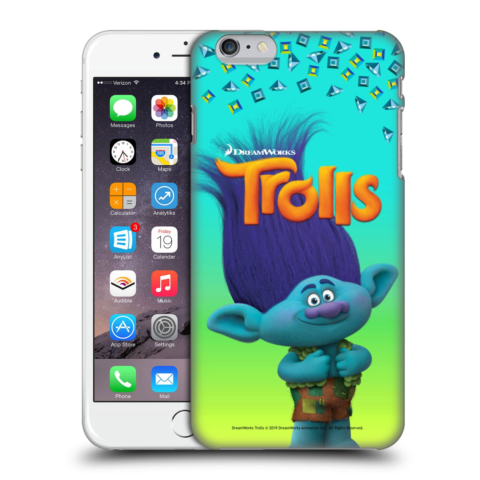 Pouzdro na mobil Apple Iphone 6/6S PLUS - HEAD CASE - Pohádka - Trollové skřítek Branch