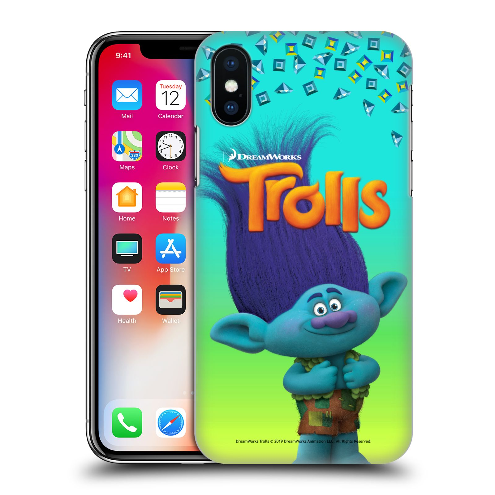 Pouzdro na mobil Apple Iphone X/XS - HEAD CASE - Pohádka - Trollové skřítek Branch