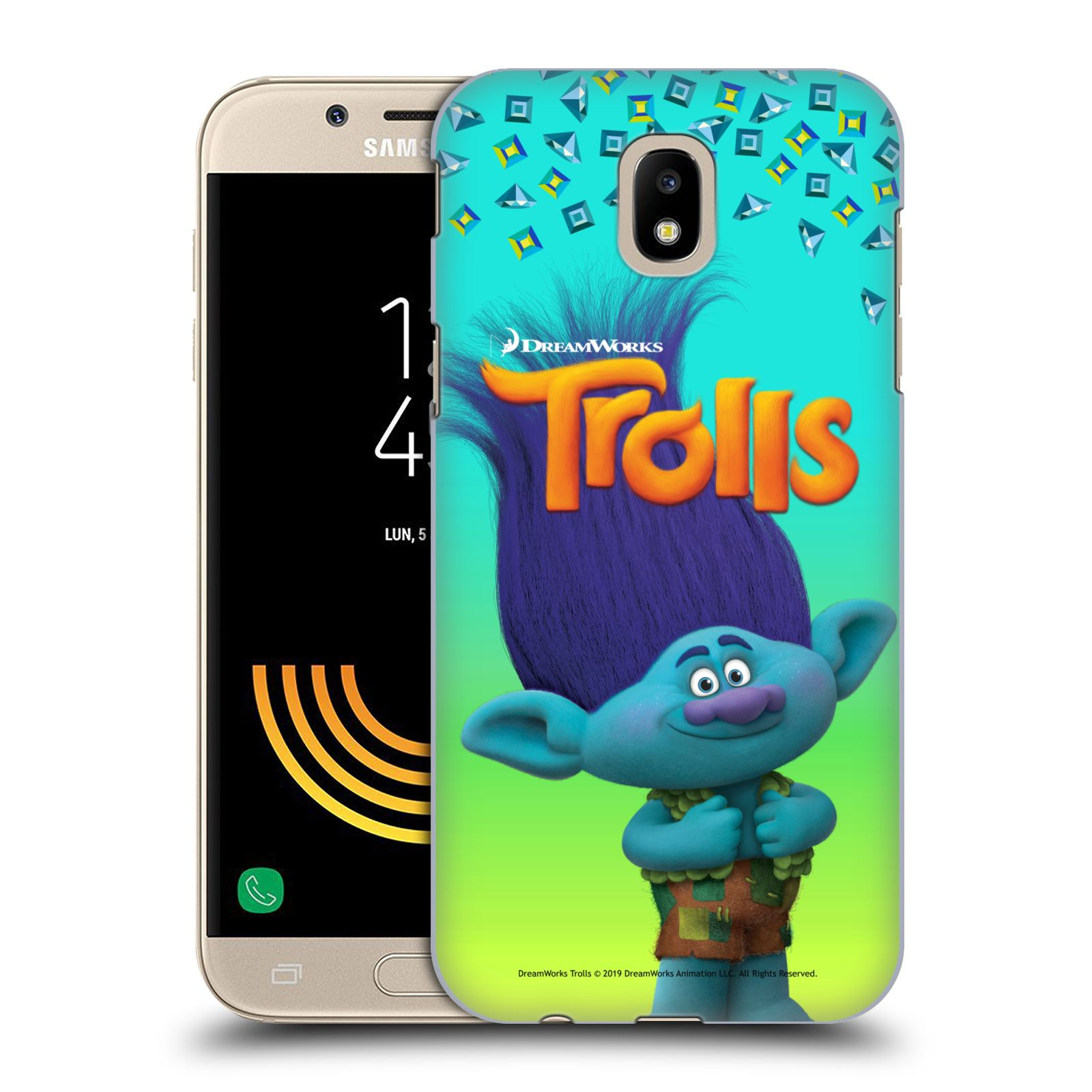 Pouzdro na mobil Samsung Galaxy J5 2017 - HEAD CASE - Pohádka - Trollové skřítek Branch
