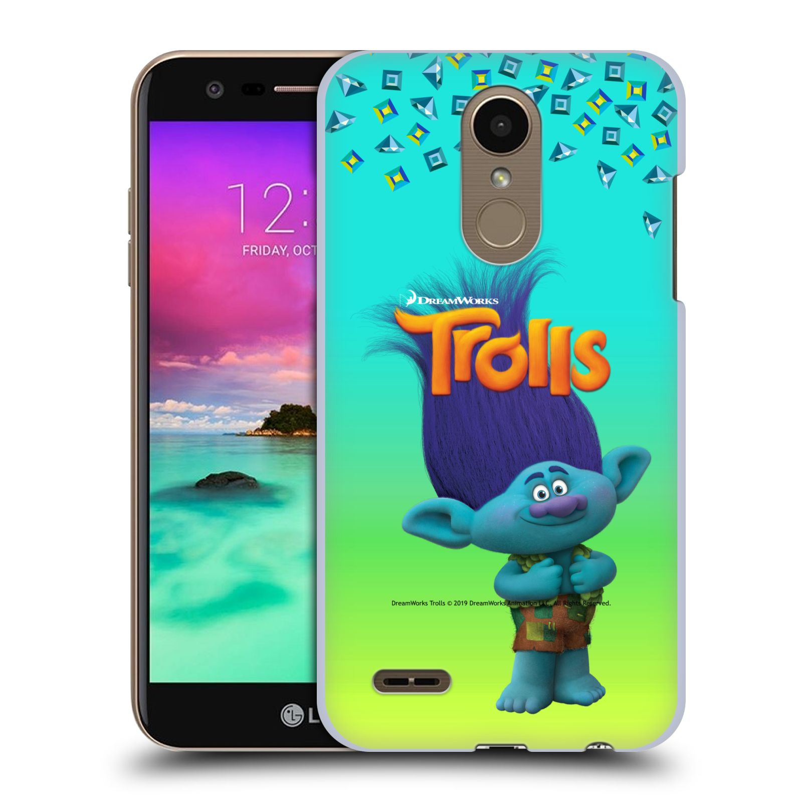 Pouzdro na mobil LG K10 2018 - HEAD CASE - Pohádka - Trollové skřítek Branch