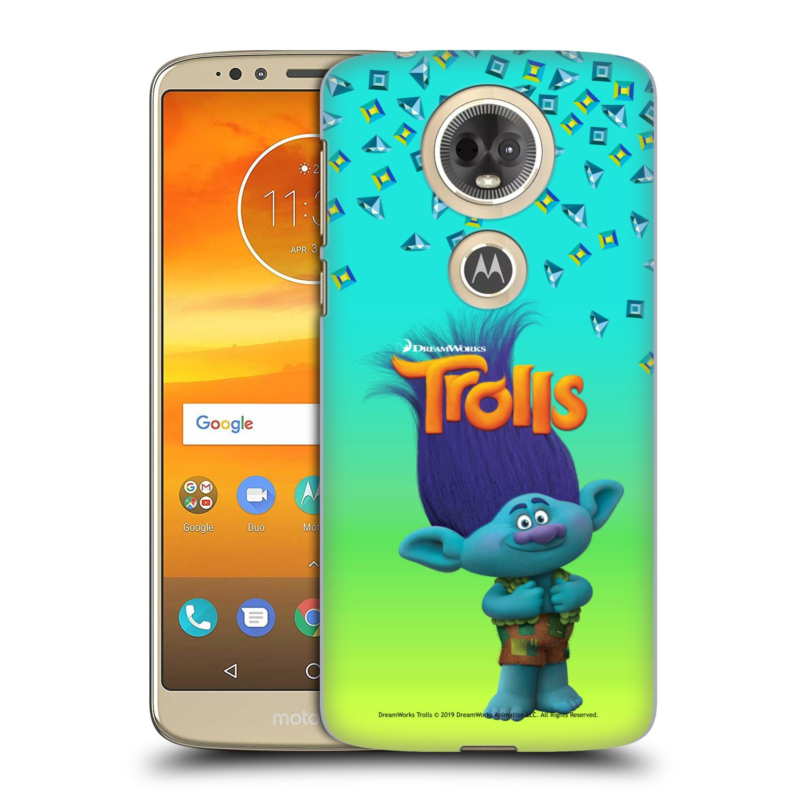 Pouzdro na mobil Motorola Moto E5 PLUS - HEAD CASE - Pohádka - Trollové skřítek Branch