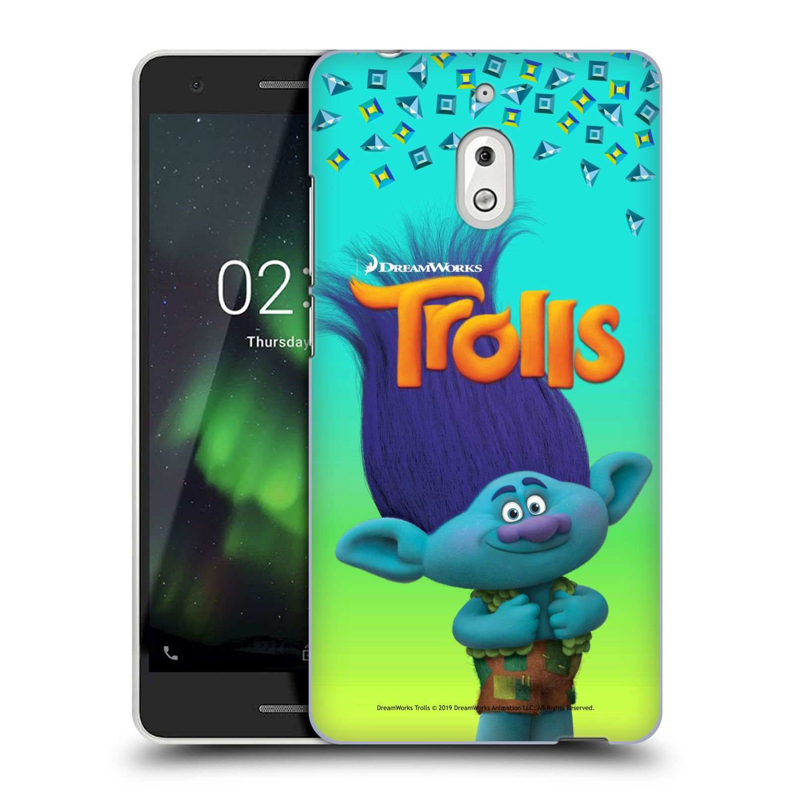 Pouzdro na mobil Nokia 2.1 - HEAD CASE - Pohádka - Trollové skřítek Branch