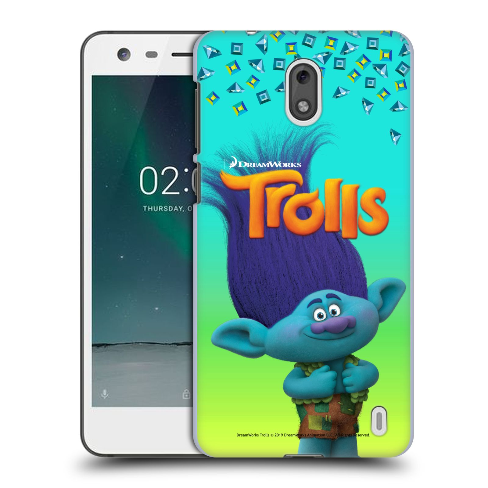 Pouzdro na mobil Nokia 2 - HEAD CASE - Pohádka - Trollové skřítek Branch
