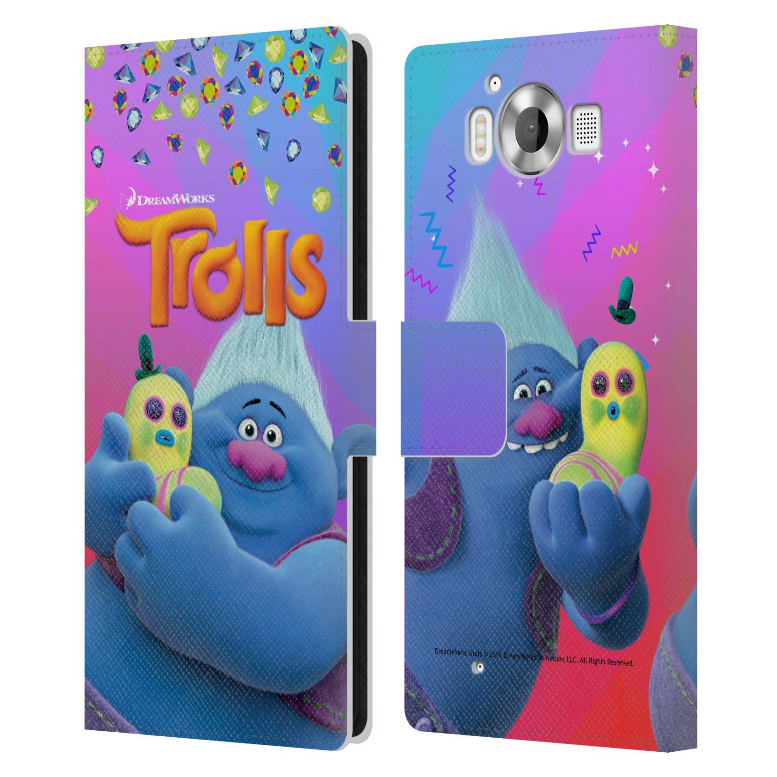 Pouzdro na mobil Nokia Lumia 950 - Head Case - Trollové - Biggie a Mr Dinkles