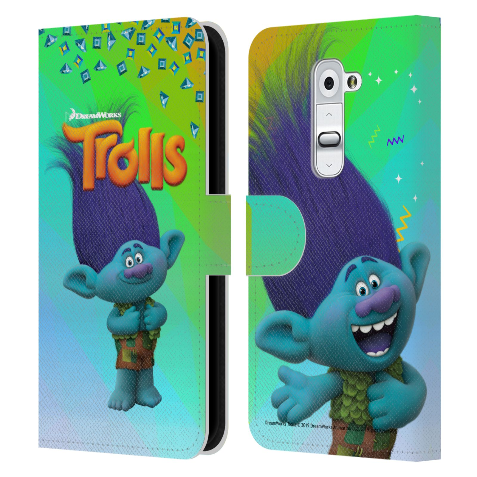 Pouzdro na mobil LG G2 - Head Case - Trollové - Branch