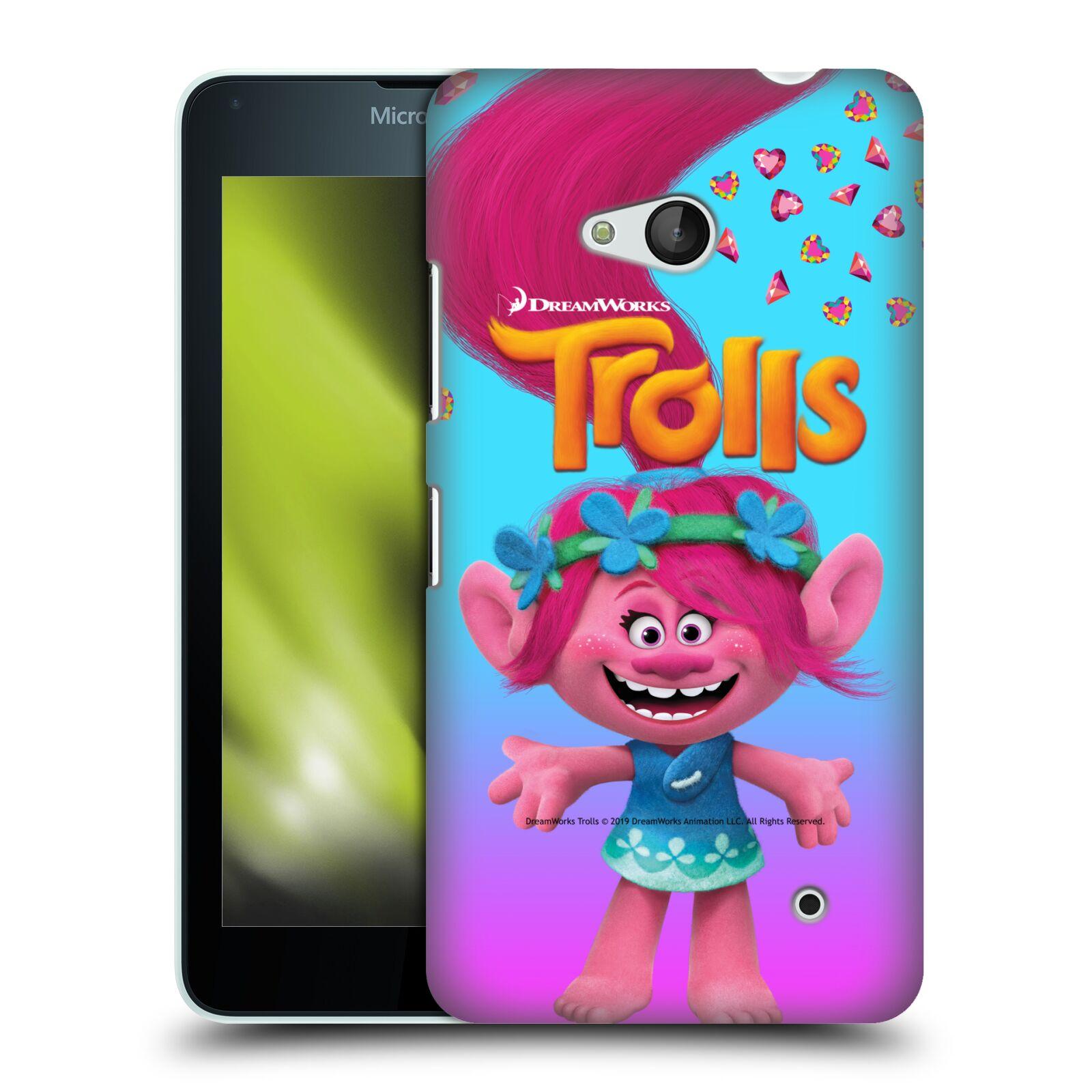 Pouzdro na mobil Microsoft Lumia 640 / 640 DUAL SIM - HEAD CASE - Pohádka - Trollové skřítek holčička Poppy
