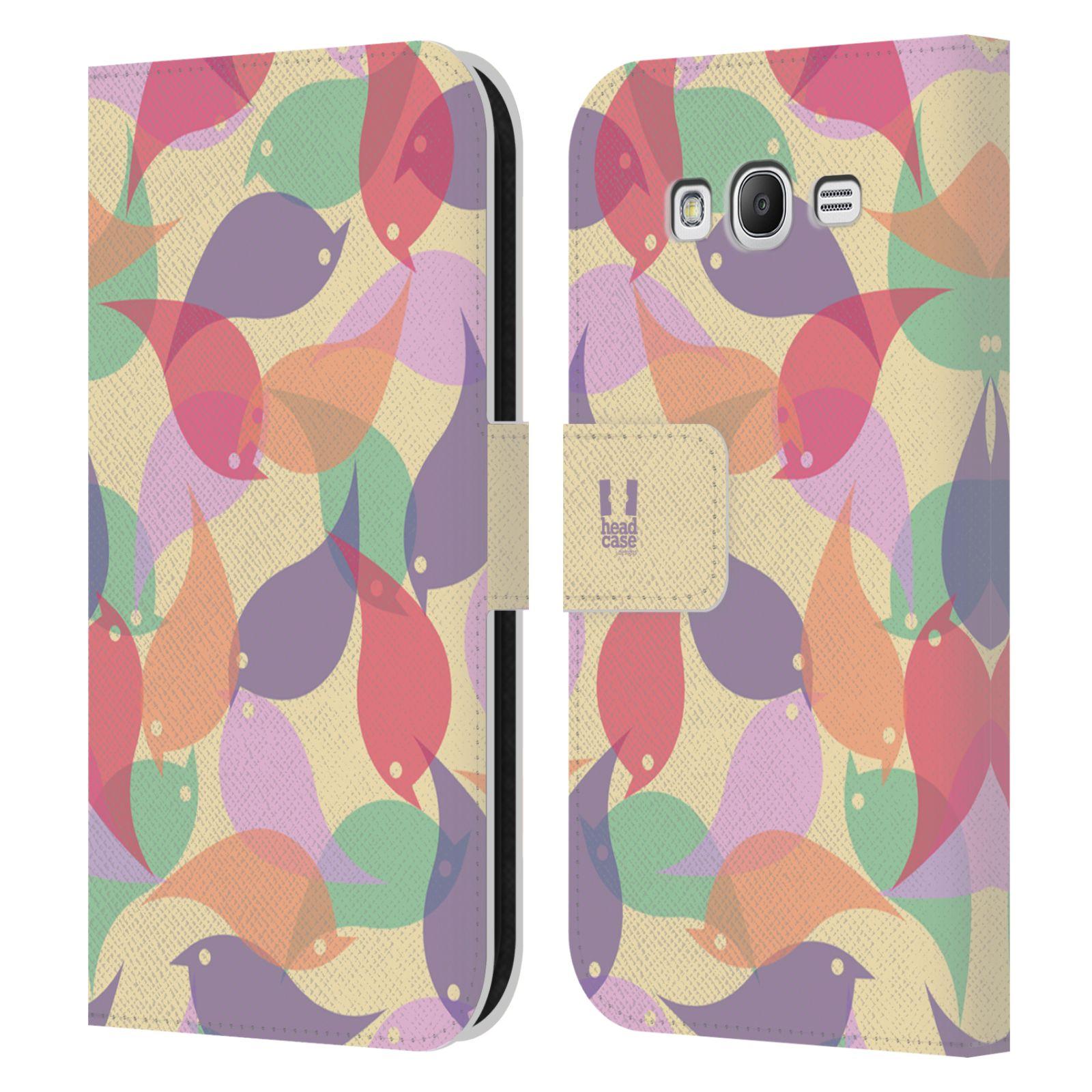HEAD CASE Flipové pouzdro pro mobil Samsung Galaxy Grand i9080 vzor prolínající se ptáčci