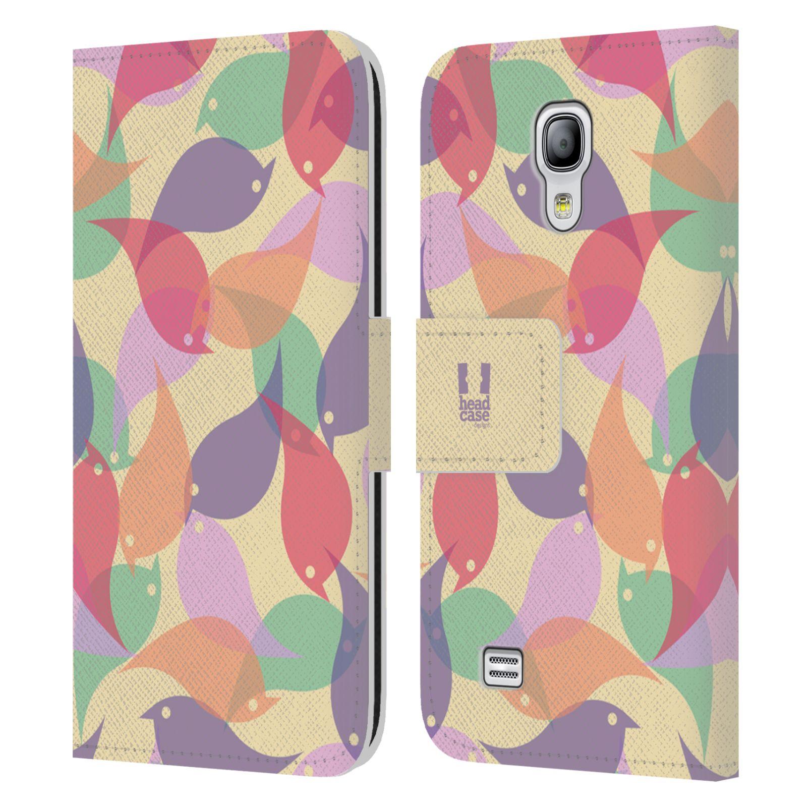 HEAD CASE Flipové pouzdro pro mobil Samsung Galaxy S4 MINI / S4 MINI DUOS vzor prolínající se ptáčci