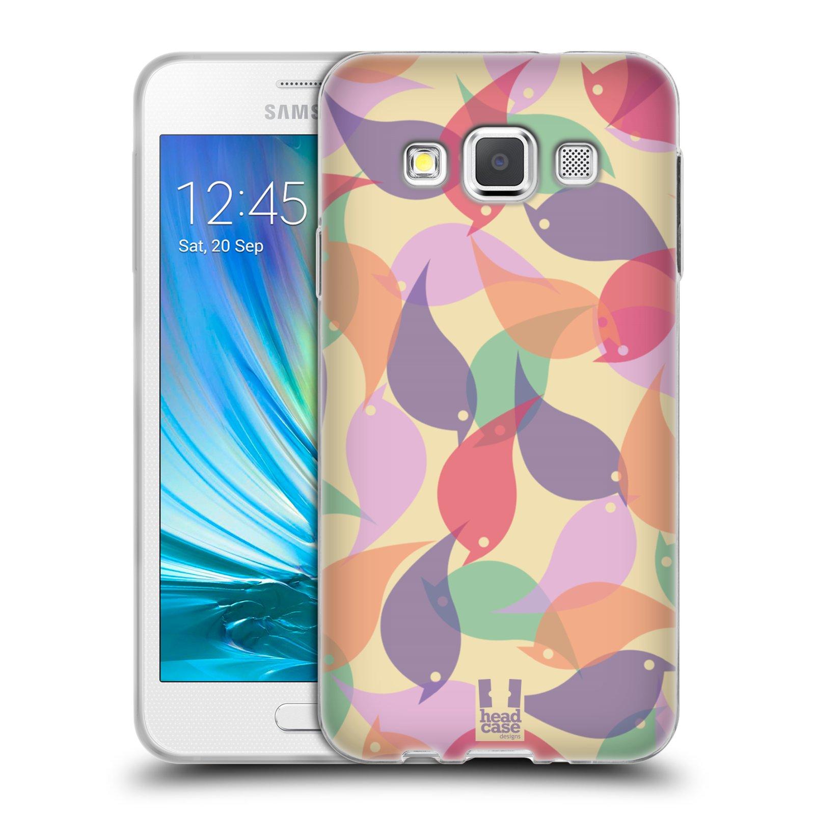 HEAD CASE silikonový obal na mobil Samsung Galaxy A3 vzor Vzorkovaná malba PTÁČCI