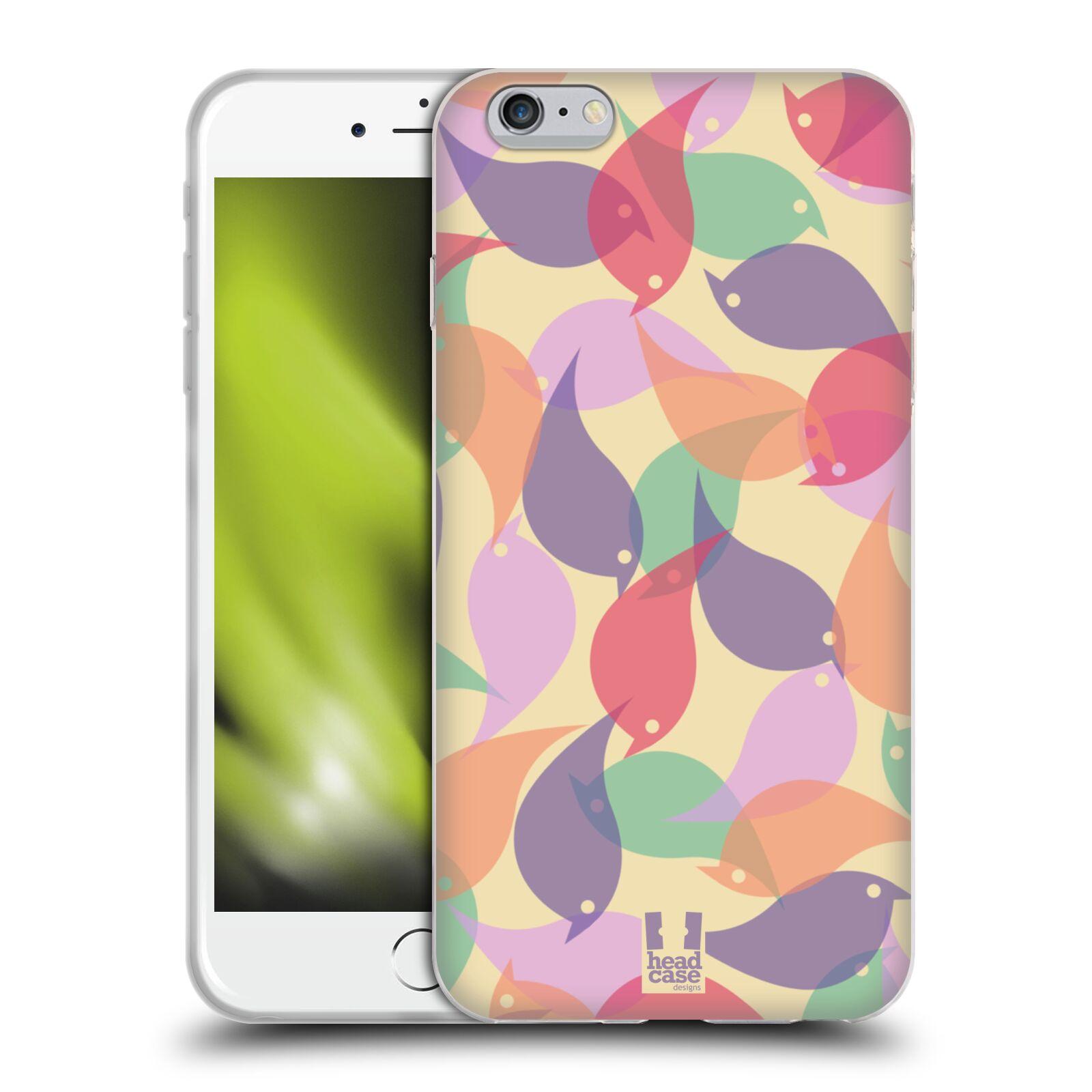 HEAD CASE silikonový obal na mobil Apple Iphone 6 PLUS/ 6S PLUS vzor Vzorkovaná malba PTÁČCI
