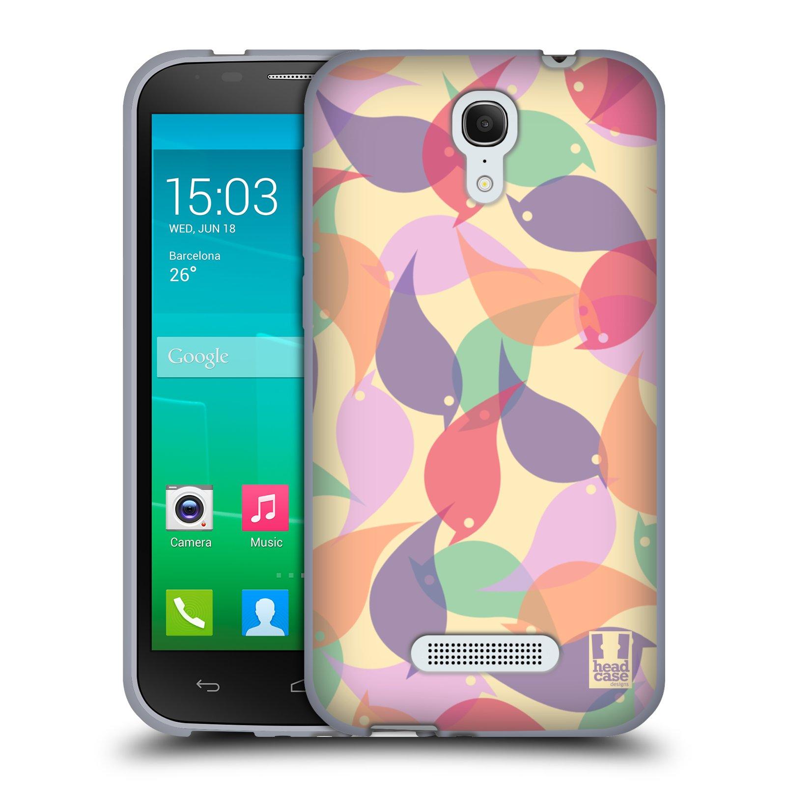 HEAD CASE silikonový obal na mobil Alcatel POP S7 vzor Vzorkovaná malba PTÁČCI