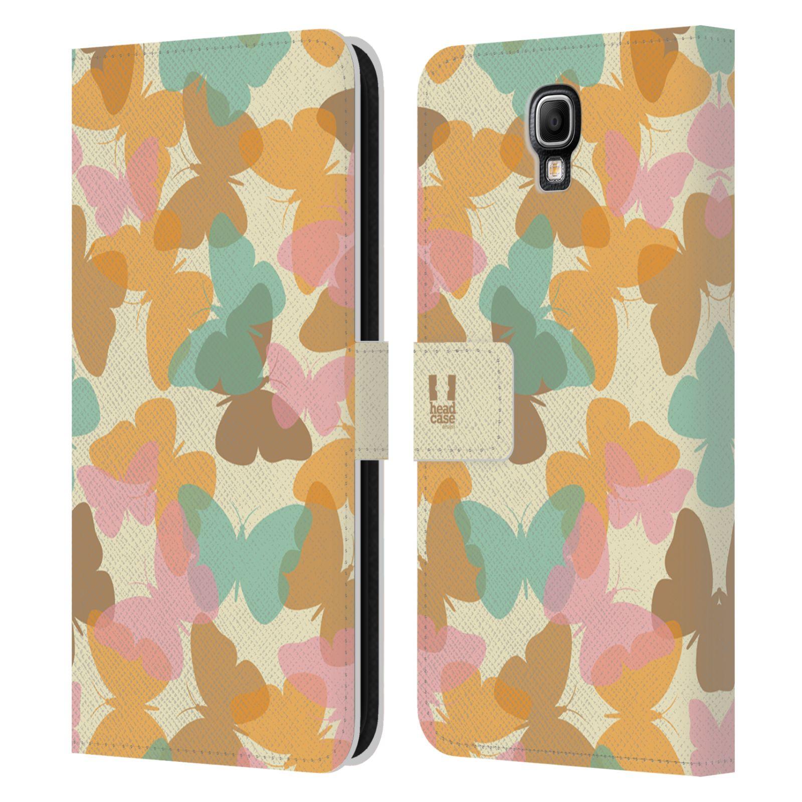 HEAD CASE Flipové pouzdro pro mobil Samsung Galaxy Note 3 NEO (N7505) vzor prolínající se motýl