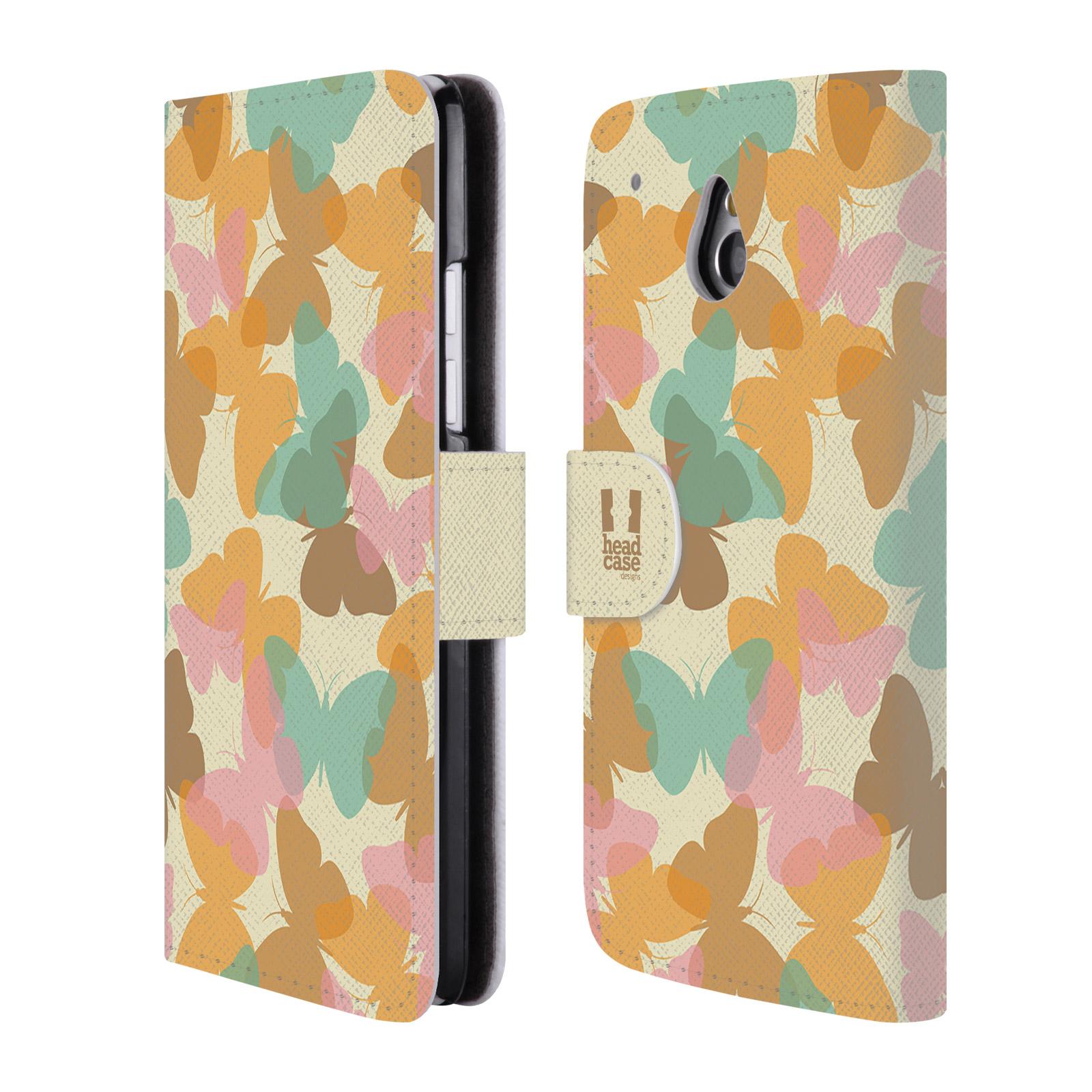 HEAD CASE Flipové pouzdro pro mobil HTC ONE MINI (M4) vzor prolínající se motýl