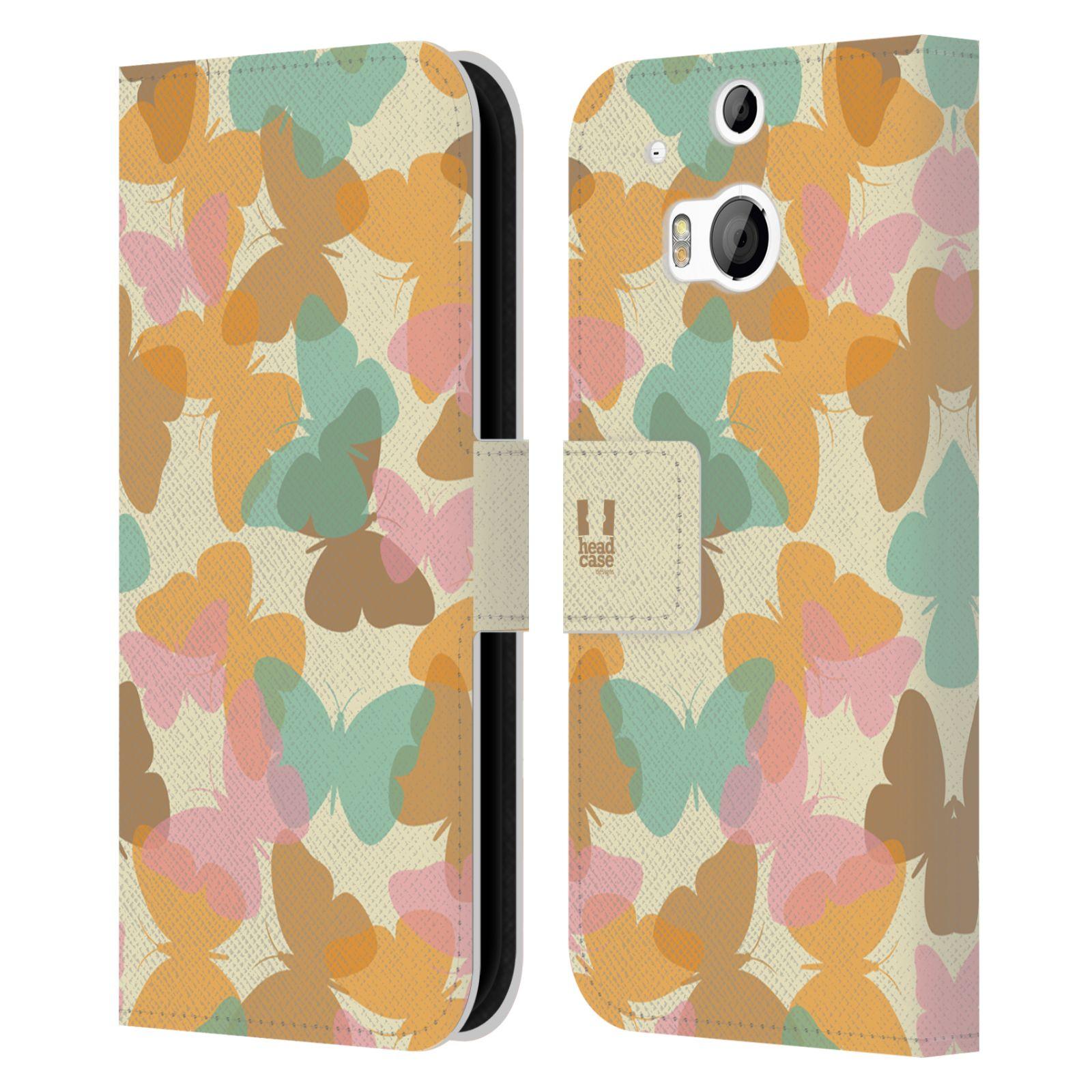 HEAD CASE Flipové pouzdro pro mobil HTC ONE (M8, M8s) vzor prolínající se motýl