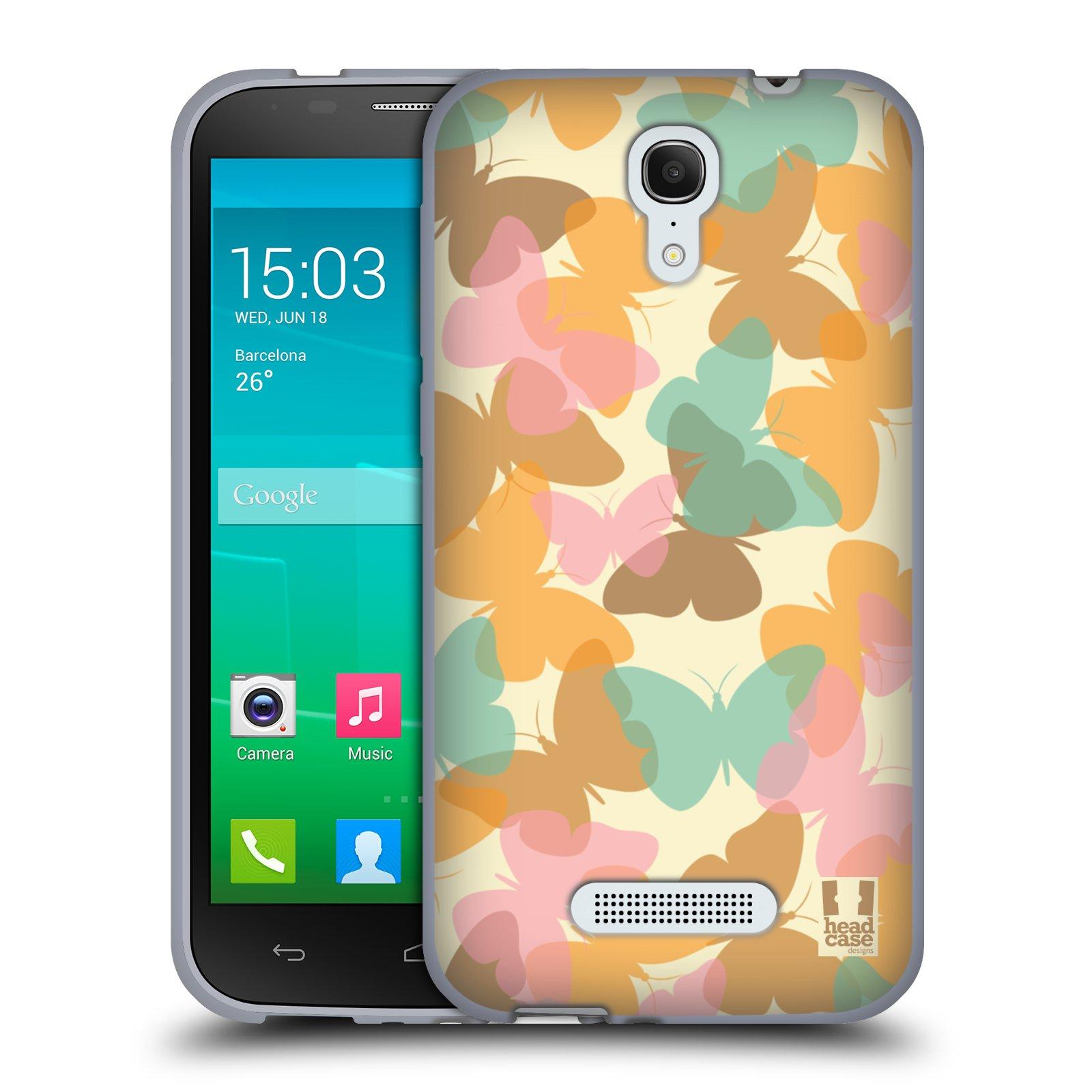 HEAD CASE silikonový obal na mobil Alcatel POP S7 vzor Vzorkovaná malba MOTÝL