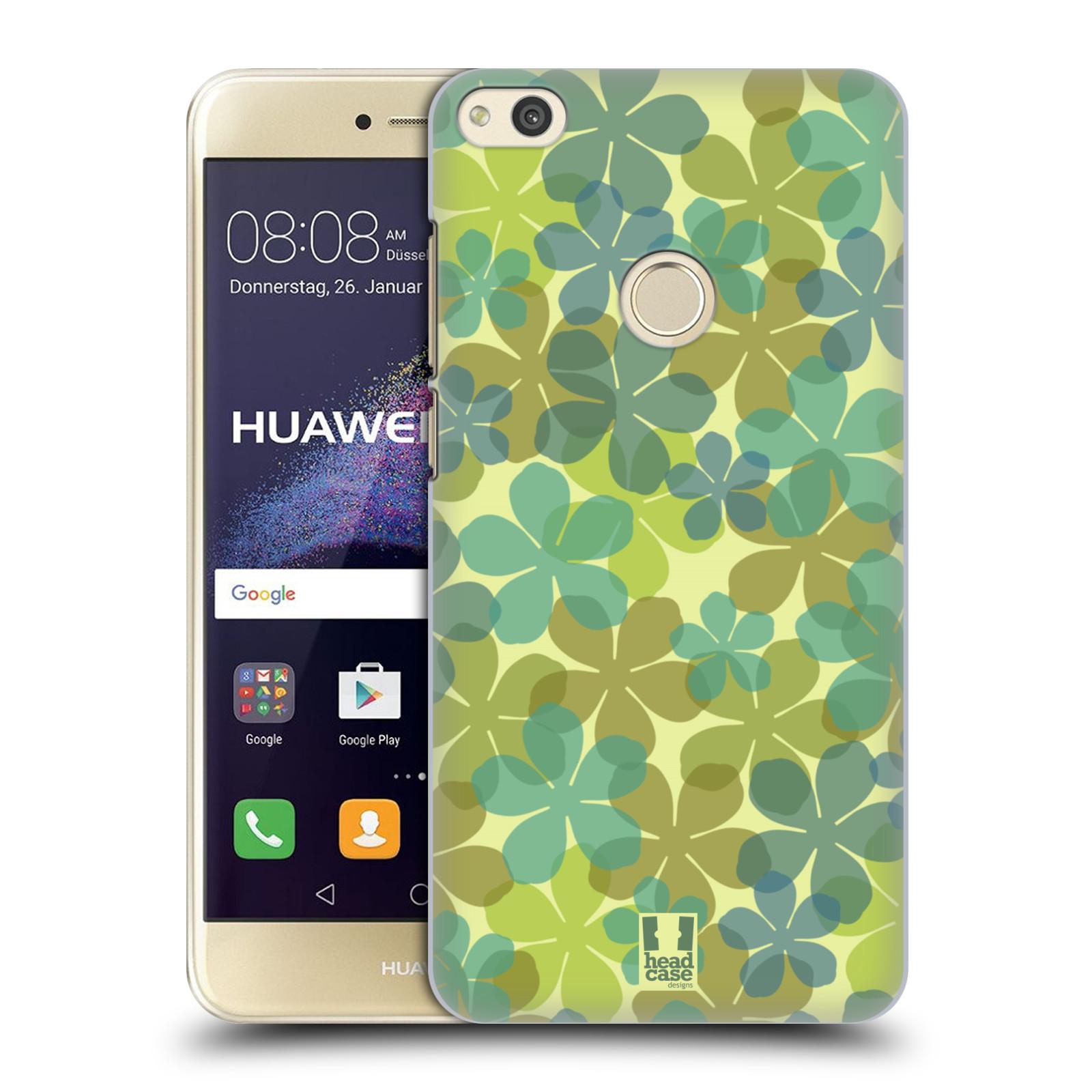 HEAD CASE silikonový obal na mobil Huawei P8 LITE 2017 vzor Vzorkovaná malba ČTYŘLÍSTEK ZELENÁ