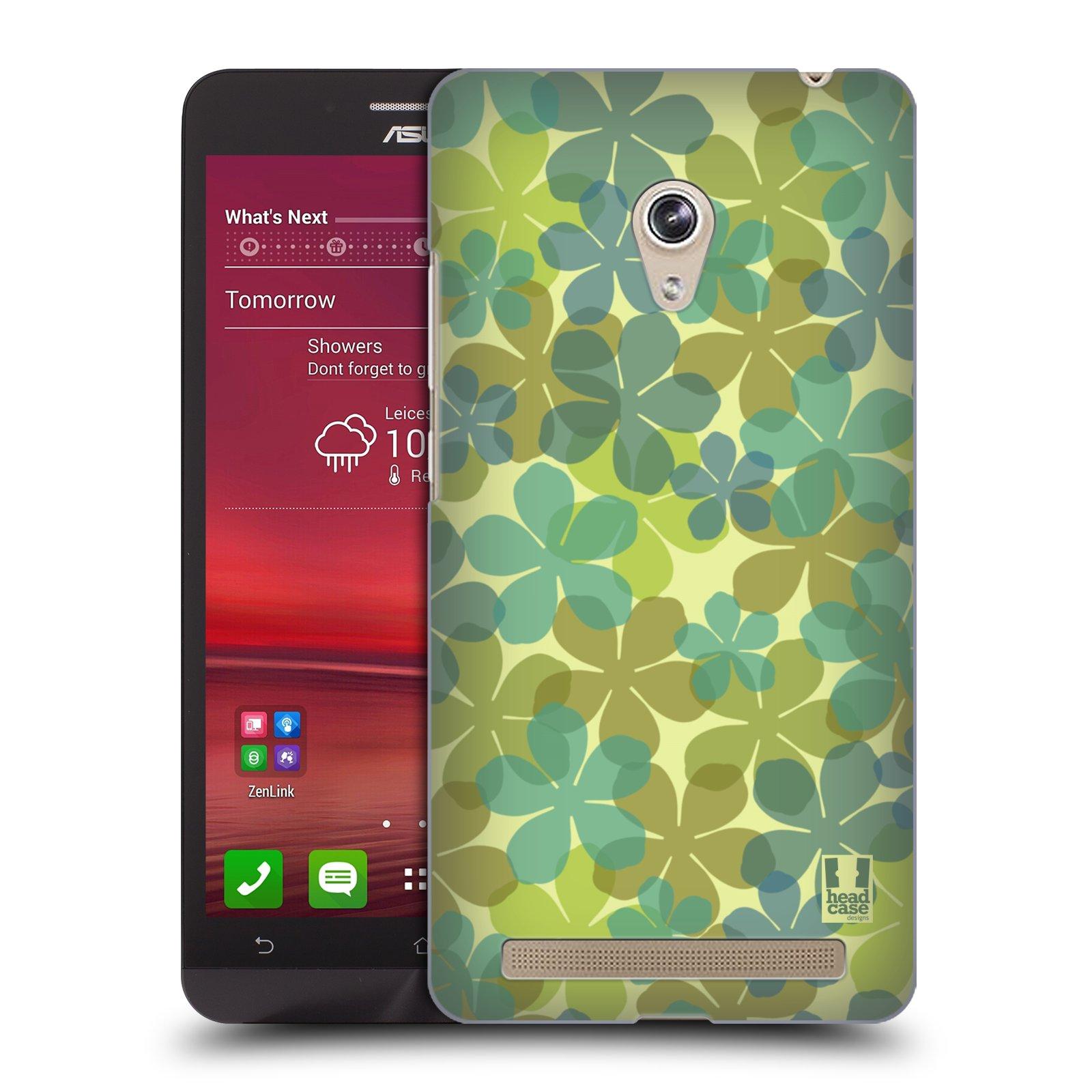 HEAD CASE plastový obal na mobil Asus Zenfone 6 vzor Vzorkovaná malba ČTYŘLÍSTEK ZELENÁ