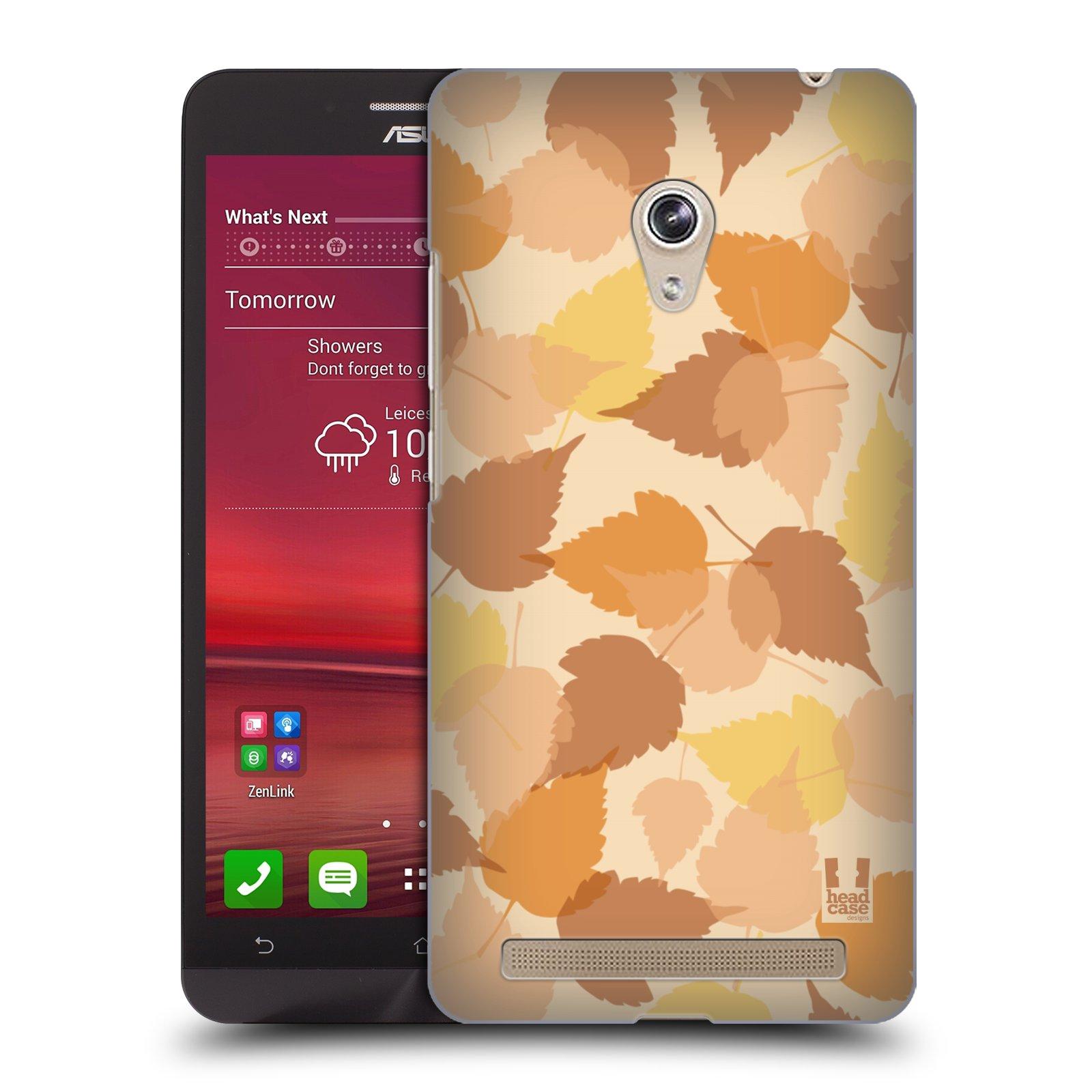 HEAD CASE plastový obal na mobil Asus Zenfone 6 vzor Vzorkovaná malba LISTY HNĚDÁ