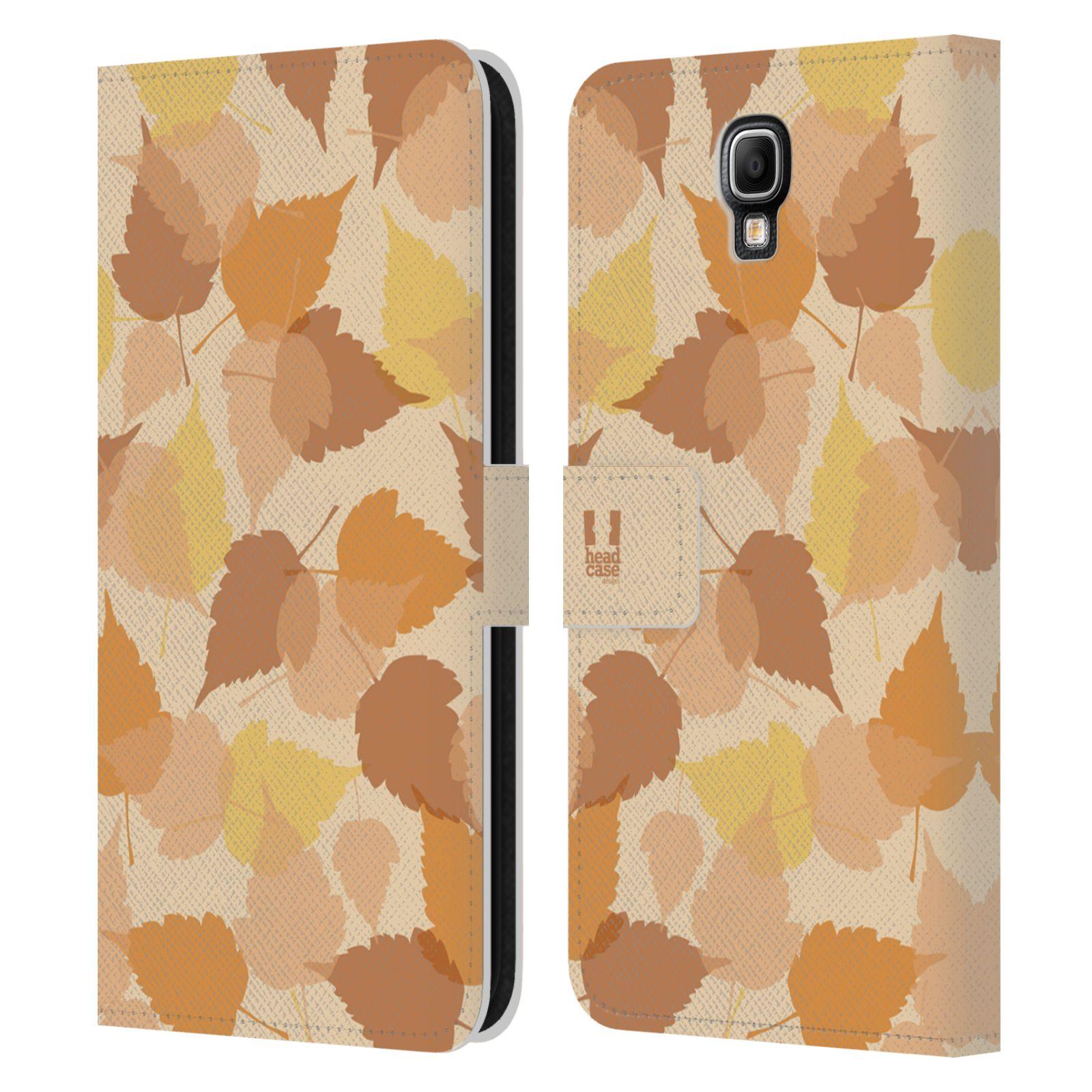 HEAD CASE Flipové pouzdro pro mobil Samsung Galaxy Note 3 NEO (N7505) vzor prolínající se listy podzim