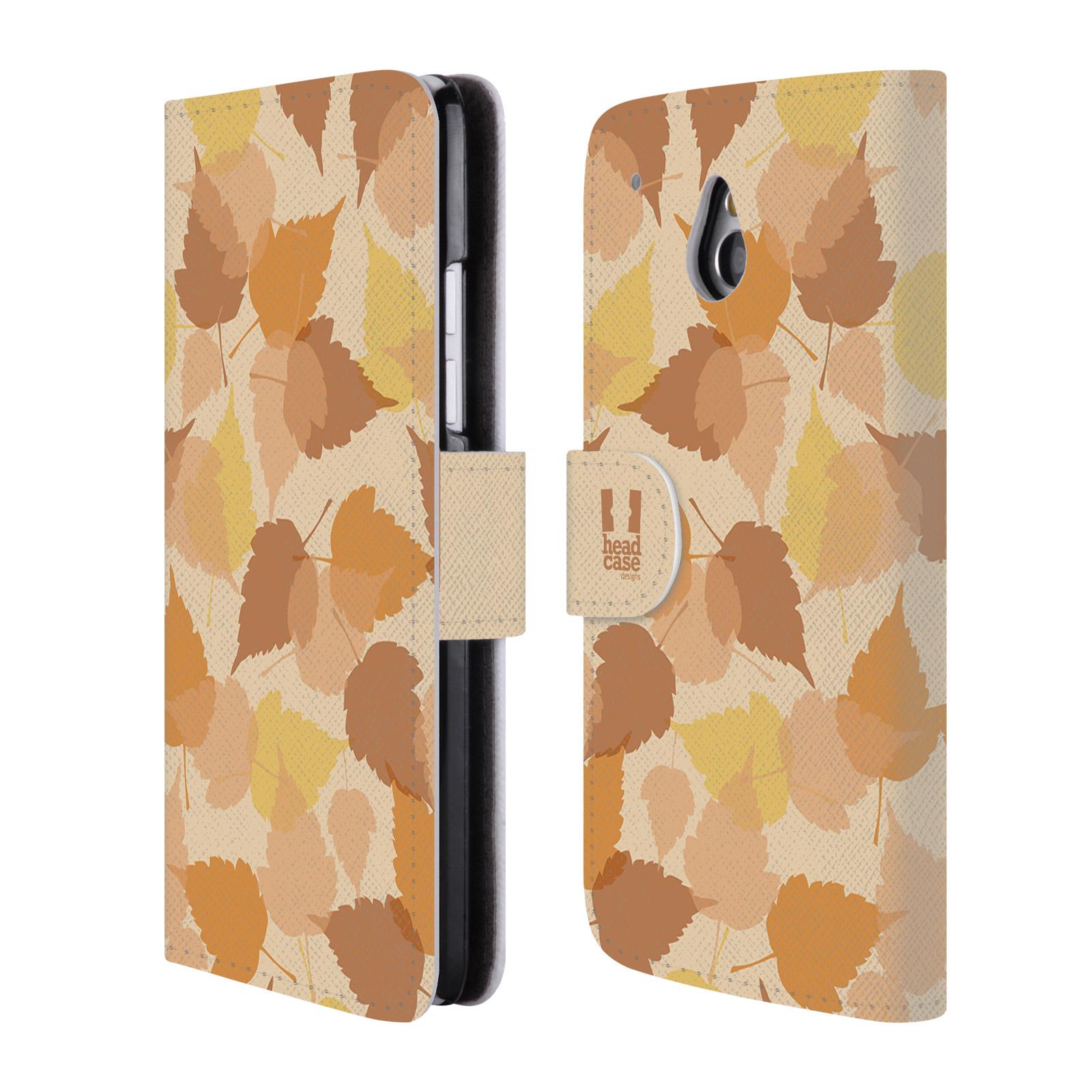 HEAD CASE Flipové pouzdro pro mobil HTC ONE MINI (M4) vzor prolínající se listy podzim