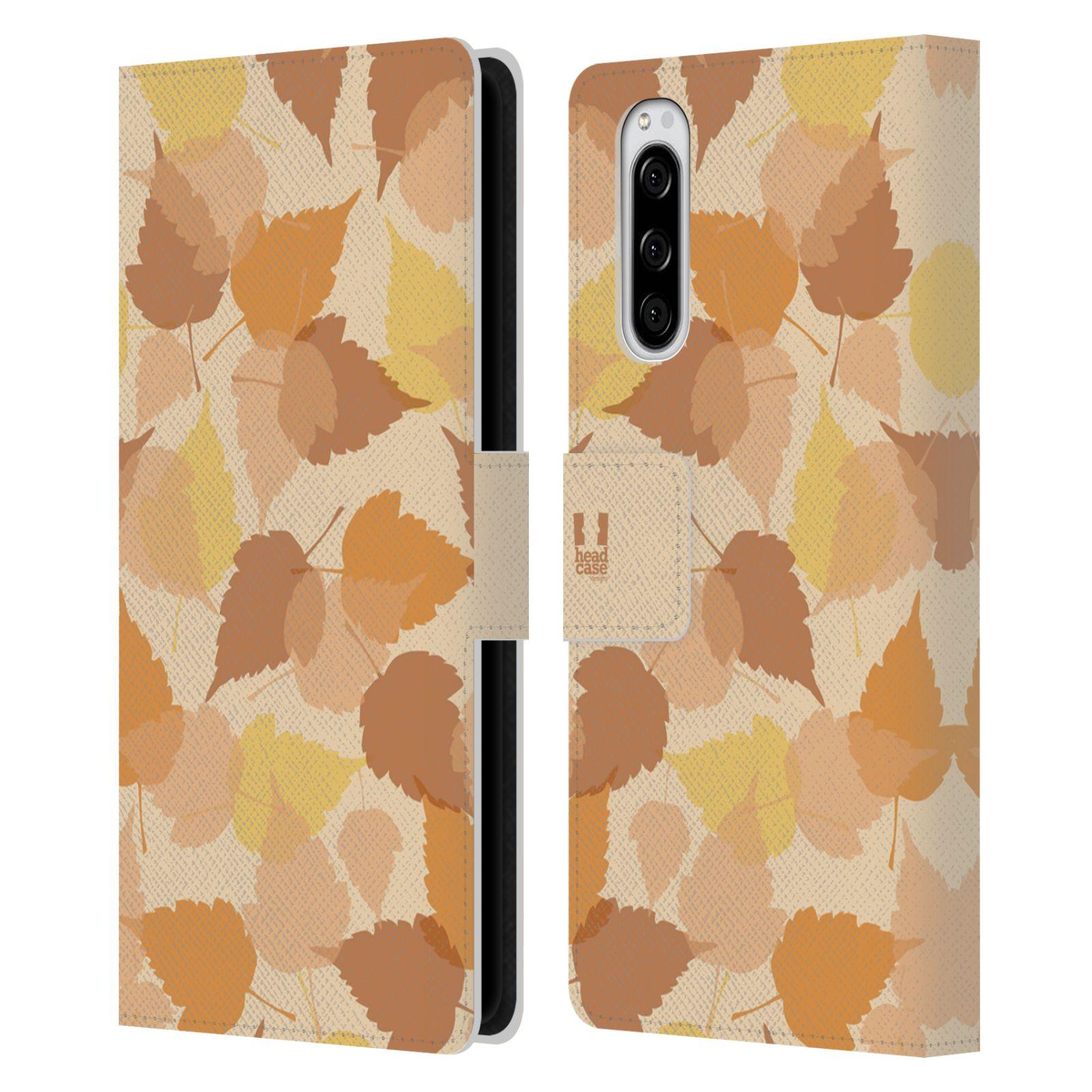 Pouzdro na mobil Sony Xperia 5 vzor prolínající se listy podzim