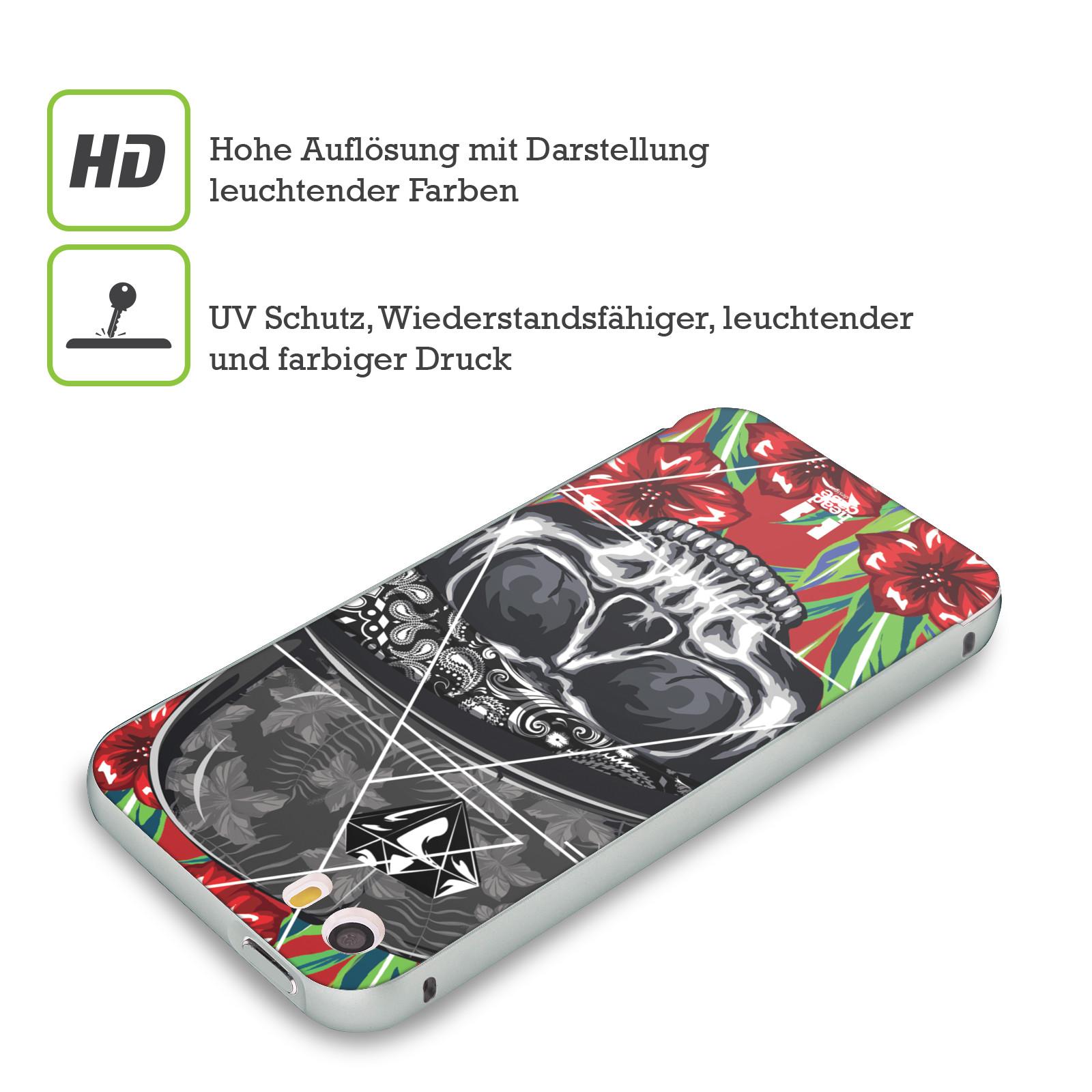 HEAD-CASE-TROPISCHE-SCHADEL-FASHION-SILBER-RAHMEN-HULLE-FUR-APPLE-iPHONE-HANDYS
